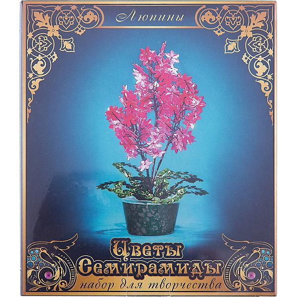 Набор для творчества Цветы Семирамиды ЛюпиныДеревья и картины из пайеток<br>Серия «Цветы Семирамиды» представляют собой комплект необходимых<br>материалов, используя которые можно создать своё «Волшебный цветок» из каждого набора. Наборы предназначены для семейного творчества.<br>Ширина мм: 12; Глубина мм: 3; Высота мм: 14; Вес г: 90; Возраст от месяцев: 84; Возраст до месяцев: 192; Пол: Унисекс; Возраст: Детский; SKU: 5068888;