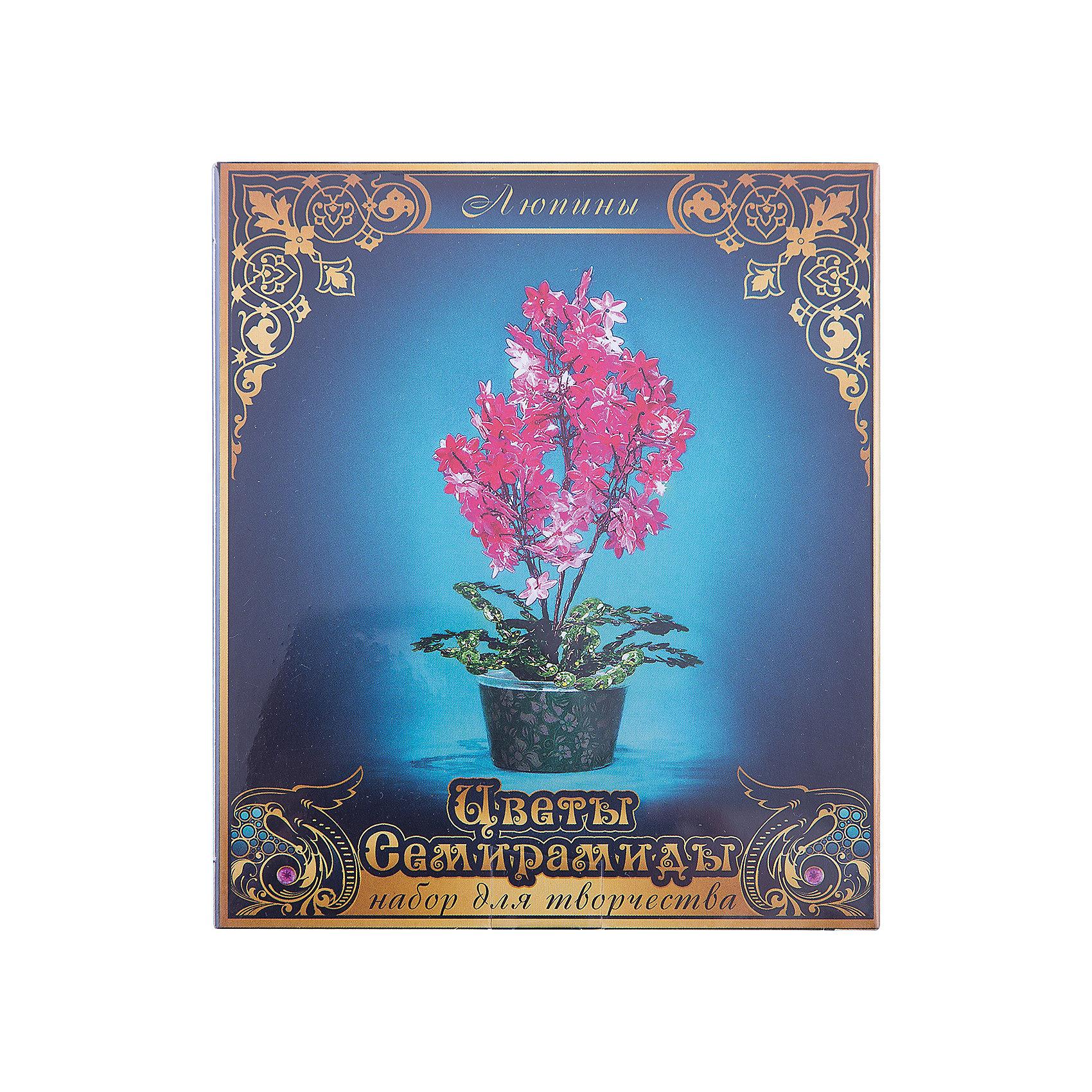 Набор для творчества Цветы Семирамиды ЛюпиныДеревья из пайеток<br>Серия «Цветы Семирамиды» представляют собой комплект необходимых<br>материалов, используя которые можно создать своё «Волшебный цветок» из каждого набора. Наборы предназначены для семейного творчества.<br><br>Ширина мм: 12<br>Глубина мм: 3<br>Высота мм: 14<br>Вес г: 90<br>Возраст от месяцев: 84<br>Возраст до месяцев: 192<br>Пол: Унисекс<br>Возраст: Детский<br>SKU: 5068888