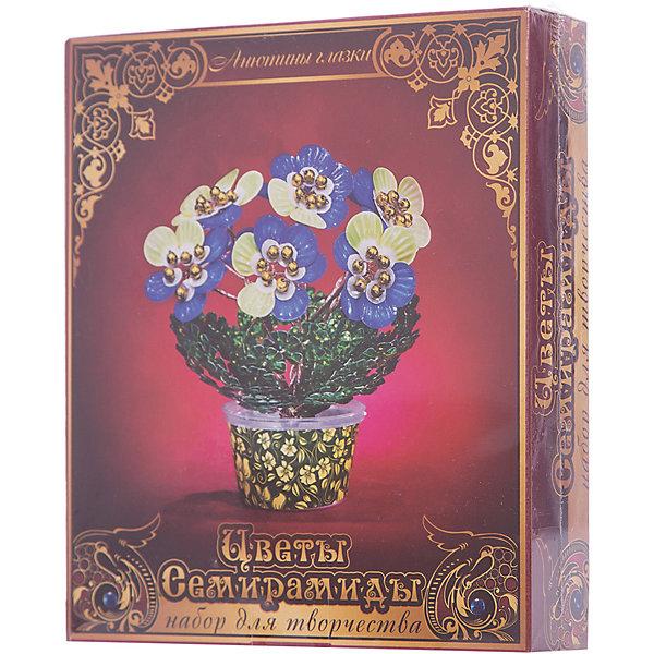 Набор для творчества Цветы Семирамиды Анютины глазкиДеревья и картины из пайеток<br>Серия «Цветы Семирамиды» представляют собой комплект необходимых<br>материалов, используя которые можно создать своё «Волшебный цветок» из каждого набора. Наборы предназначены для семейного творчества.<br><br>Ширина мм: 12<br>Глубина мм: 3<br>Высота мм: 14<br>Вес г: 90<br>Возраст от месяцев: 84<br>Возраст до месяцев: 192<br>Пол: Унисекс<br>Возраст: Детский<br>SKU: 5068889