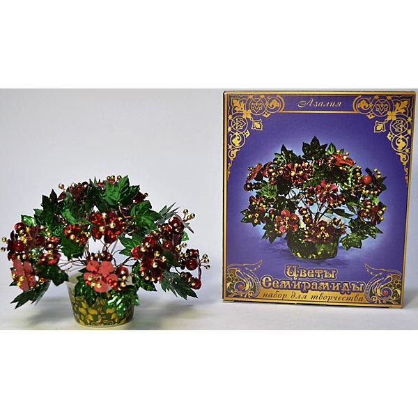 Набор Цветы Семирамиды АзалияДеревья и картины из пайеток<br>Серия «Цветы Семирамиды» представляют собой комплект необходимых<br>материалов, используя которые можно создать своё «Волшебный цветок» из каждого набора. Наборы предназначены для семейного творчества.<br><br>Ширина мм: 12<br>Глубина мм: 3<br>Высота мм: 14<br>Вес г: 90<br>Возраст от месяцев: 84<br>Возраст до месяцев: 192<br>Пол: Унисекс<br>Возраст: Детский<br>SKU: 5068895