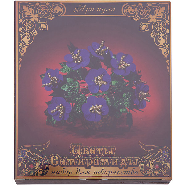 Набор Цветы Семирамиды ПримулаДеревья и картины из пайеток<br>Серия «Цветы Семирамиды» представляют собой комплект необходимых<br>материалов, используя которые можно создать своё «Волшебный цветок» из каждого набора. Наборы предназначены для семейного творчества.<br><br>Ширина мм: 12<br>Глубина мм: 3<br>Высота мм: 14<br>Вес г: 90<br>Возраст от месяцев: 84<br>Возраст до месяцев: 192<br>Пол: Унисекс<br>Возраст: Детский<br>SKU: 5068896