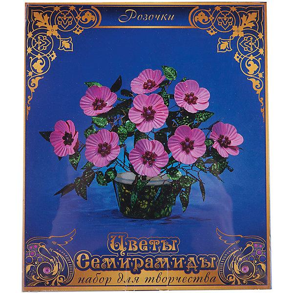 Набор Цветы Семирамиды РозочкиДеревья и картины из пайеток<br>Серия «Цветы Семирамиды» представляют собой комплект необходимых<br>материалов, используя которые можно создать своё «Волшебный цветок» из каждого набора. Наборы предназначены для семейного творчества.<br><br>Ширина мм: 12<br>Глубина мм: 3<br>Высота мм: 14<br>Вес г: 90<br>Возраст от месяцев: 84<br>Возраст до месяцев: 192<br>Пол: Унисекс<br>Возраст: Детский<br>SKU: 5068897