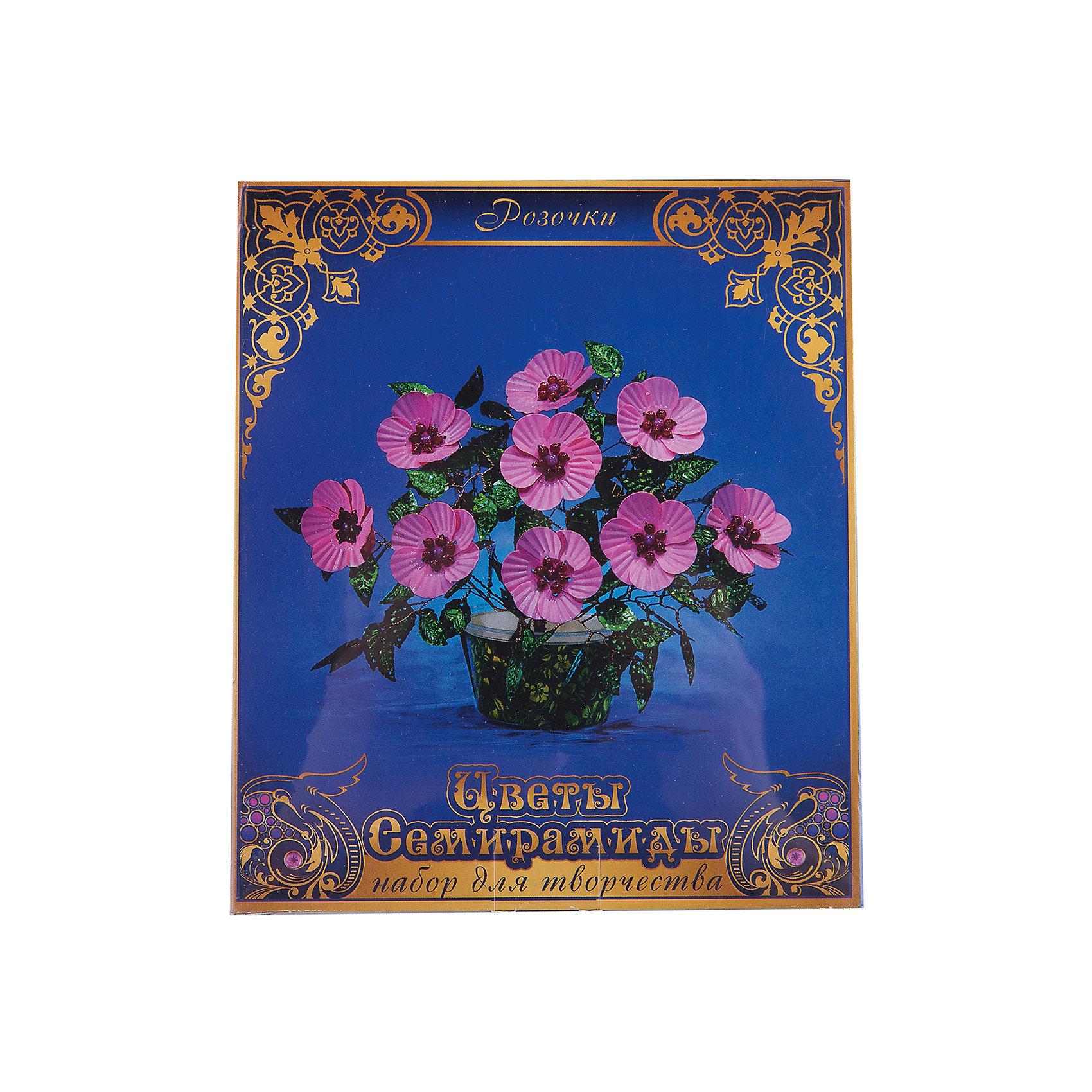 Набор Цветы Семирамиды РозочкиДеревья из пайеток<br>Серия «Цветы Семирамиды» представляют собой комплект необходимых<br>материалов, используя которые можно создать своё «Волшебный цветок» из каждого набора. Наборы предназначены для семейного творчества.<br><br>Ширина мм: 12<br>Глубина мм: 3<br>Высота мм: 14<br>Вес г: 90<br>Возраст от месяцев: 84<br>Возраст до месяцев: 192<br>Пол: Унисекс<br>Возраст: Детский<br>SKU: 5068897