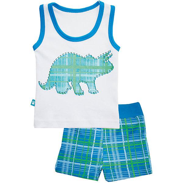 Пижама: майка и шорты для мальчика KotMarKotПижамы и сорочки<br>Пижама: майка и шорты для мальчика от известного бренда KotMarKot<br>Состав:<br>100% хлопок<br><br>Ширина мм: 281<br>Глубина мм: 70<br>Высота мм: 188<br>Вес г: 295<br>Цвет: белый<br>Возраст от месяцев: 18<br>Возраст до месяцев: 24<br>Пол: Мужской<br>Возраст: Детский<br>Размер: 92,134,128,122,116,110,98<br>SKU: 5069362