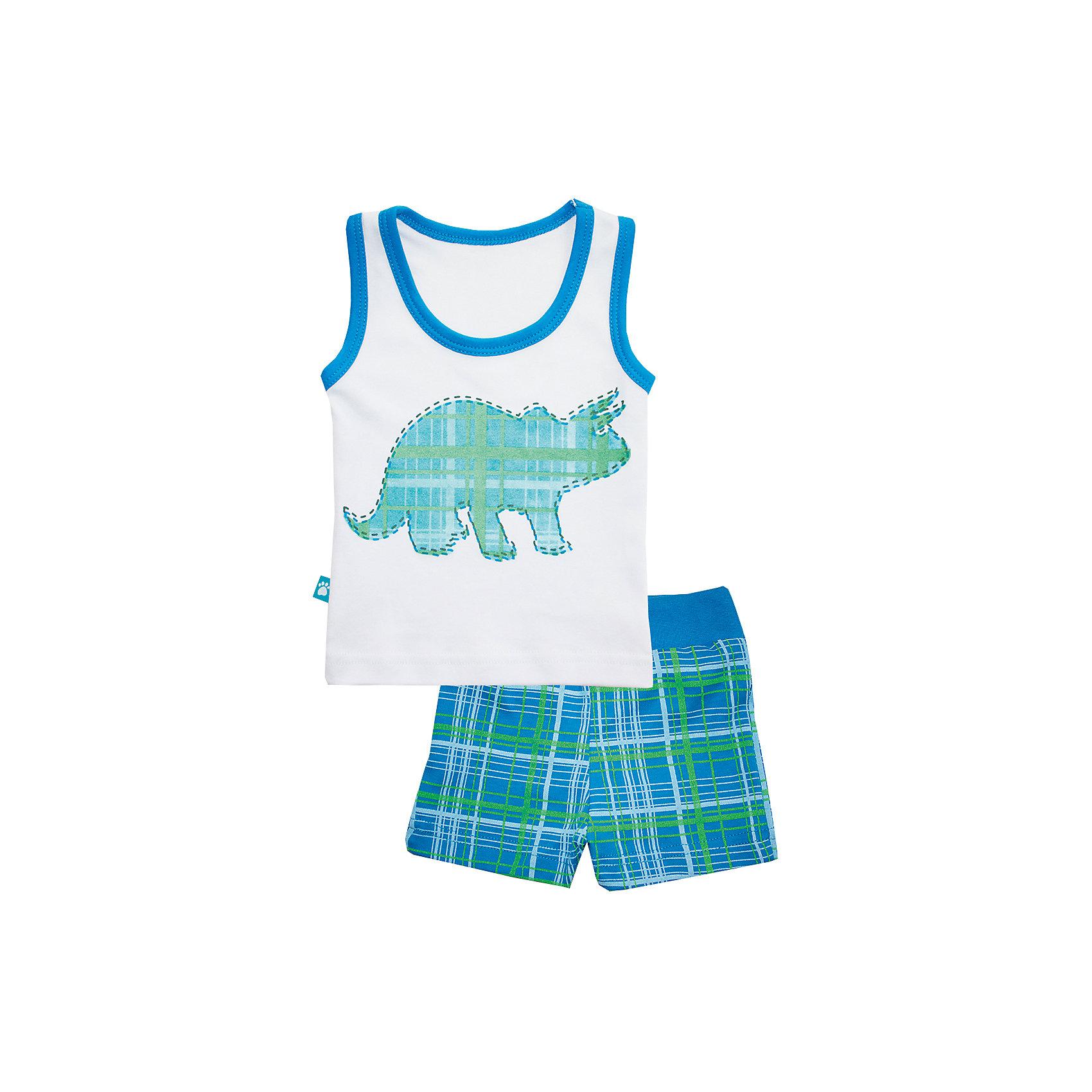 Пижама: майка и шорты для мальчика KotMarKotПижамы и сорочки<br>Пижама: майка и шорты для мальчика от известного бренда KotMarKot<br>Состав:<br>100% хлопок<br><br>Ширина мм: 281<br>Глубина мм: 70<br>Высота мм: 188<br>Вес г: 295<br>Цвет: белый<br>Возраст от месяцев: 18<br>Возраст до месяцев: 24<br>Пол: Мужской<br>Возраст: Детский<br>Размер: 92,134,98,110,116,122,128<br>SKU: 5069362