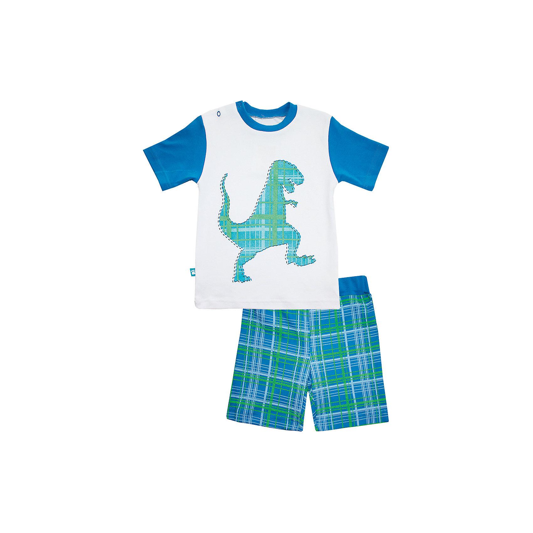 КотМарКот Пижама: майка и шорты для мальчика КотМарКот