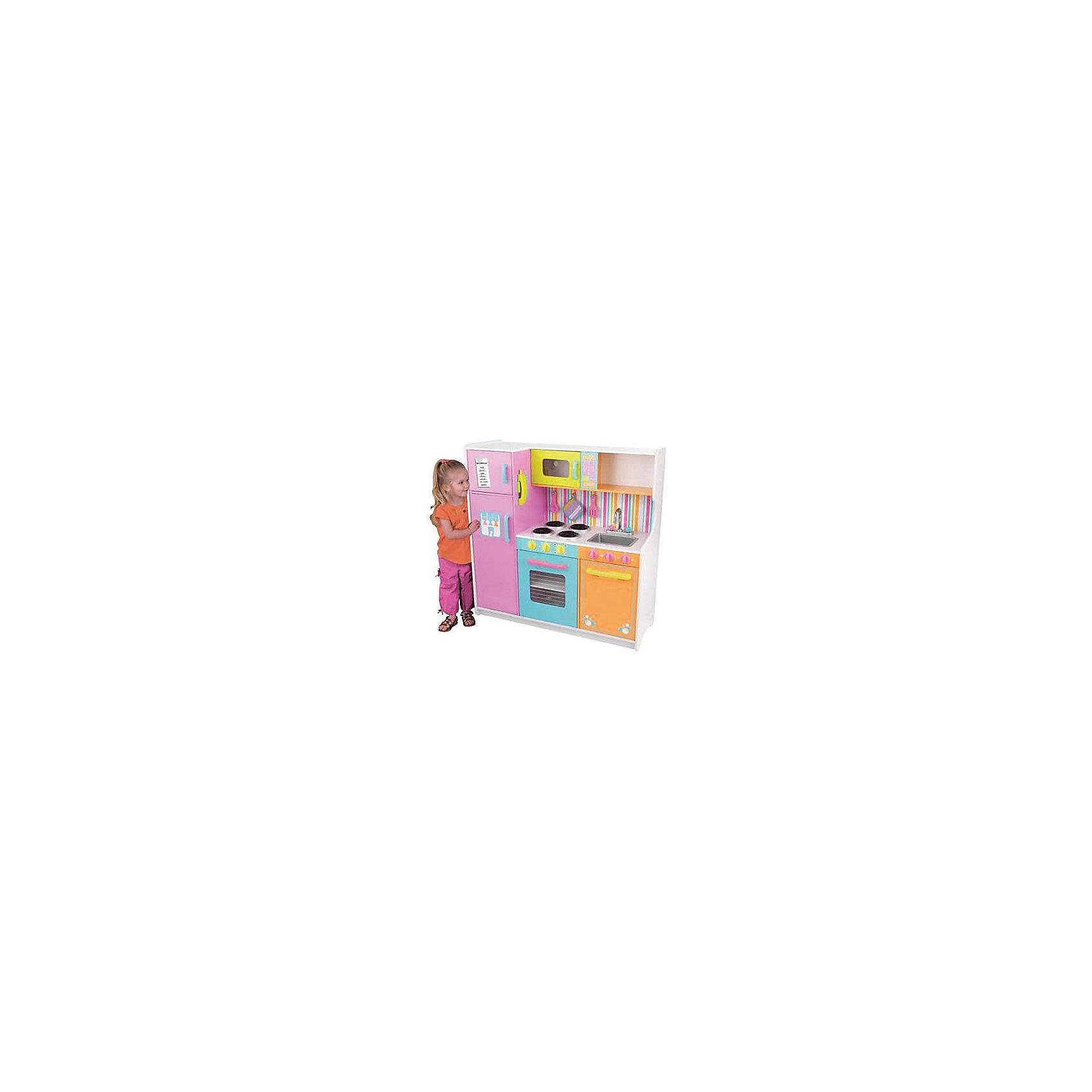 "KidKraft Большая детская игровая кухня «Делюкс» (Deluxe Big & Bright Kitchen), KidKraft kidkraft тостер игрушечный ""bright"" kidkraft"