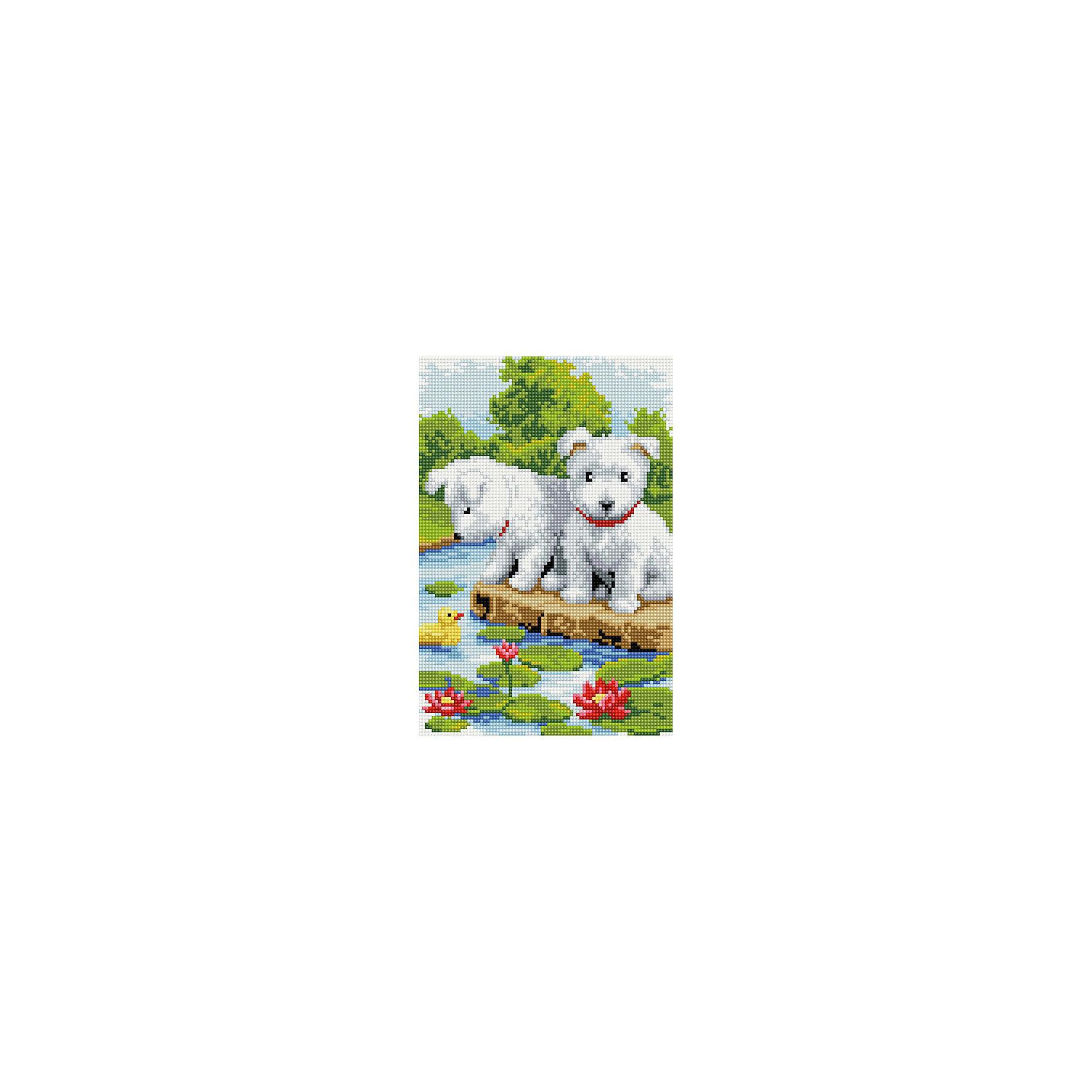 TUKZAR Алмазная мозаика по номерам Собачки 20х30 см этажерка столик с3 мя корзинками atlanta цвет серебристый белый