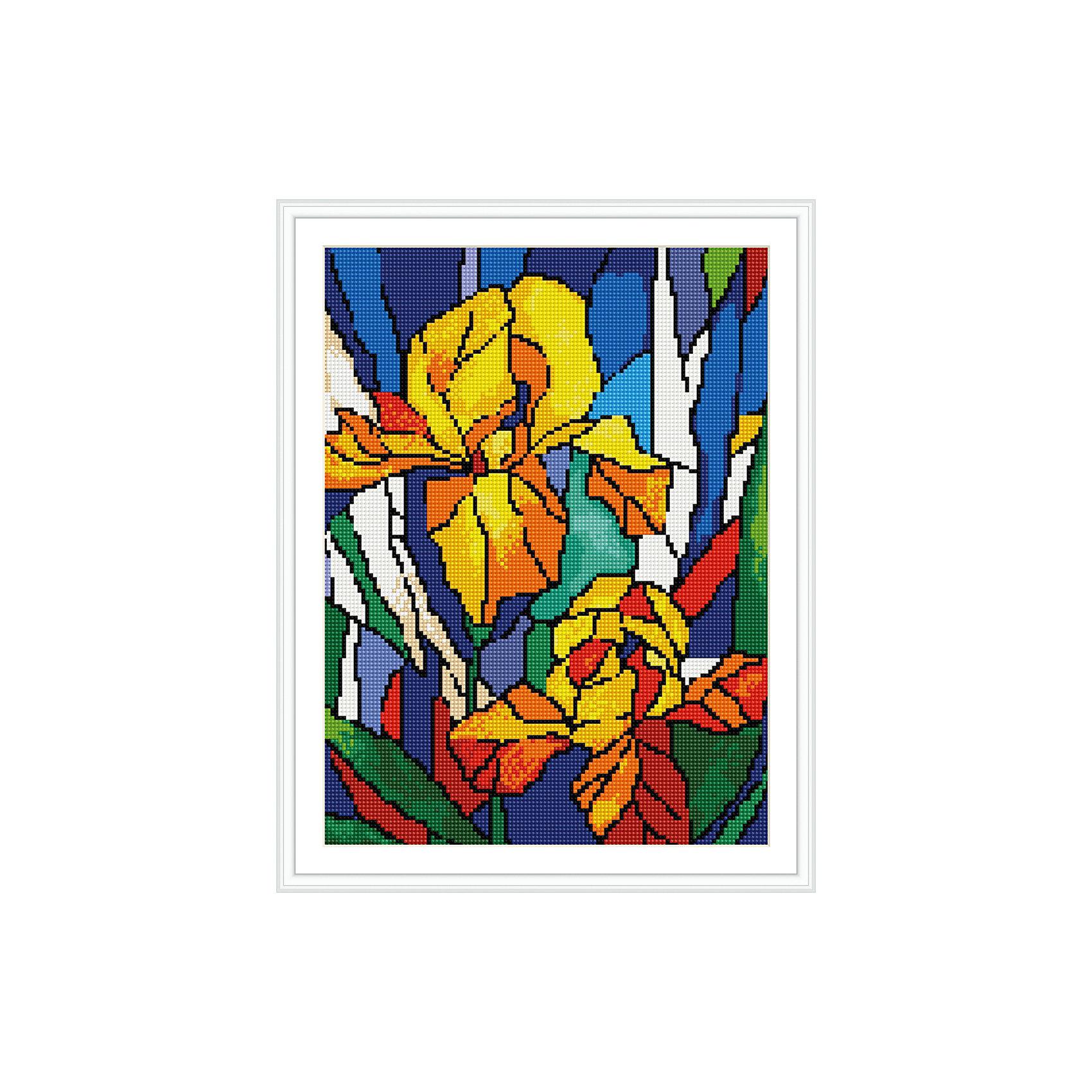 TUKZAR Алмазная мозаика по номерами Ирисы 30х40 см набор для творчества алмазная мозаика анютины глазки 30 см х 30 см