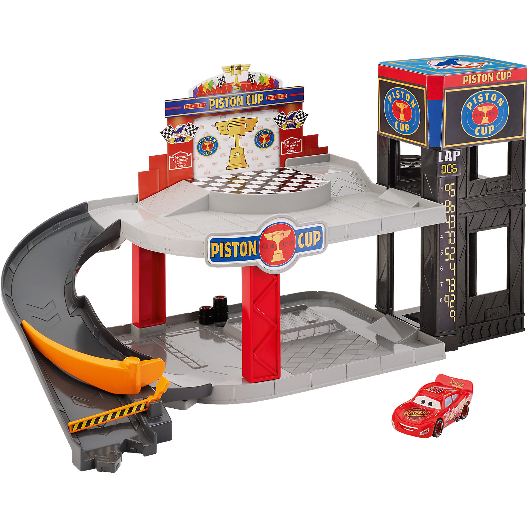 Большой гараж, ТачкиПарковки и гаражи<br>Большой гараж, Тачки<br><br>Характеристики:<br><br>• гараж имеет 2 уровня<br>• есть работающий лифт<br>• большие площадки для игры<br>• материал: металл<br>• в комплекте: детали гаража, машинка Маккуин<br><br>Каждый гонщик знает, как важно иметь собственный гараж. Гараж Тачек имеет 2 уровня с вместительными площадками. Для подъёма можно использовать специальный лифт. В этом гараже Молния Маккуин сможет устроить захватывающие игры со своими друзьями или отдохнуть после сложной гонки.<br><br>Большой гараж, Тачки можно купить в нашем интернет-магазине.<br><br>Ширина мм: 340<br>Глубина мм: 304<br>Высота мм: 109<br>Вес г: 892<br>Возраст от месяцев: 48<br>Возраст до месяцев: 84<br>Пол: Мужской<br>Возраст: Детский<br>SKU: 5070812