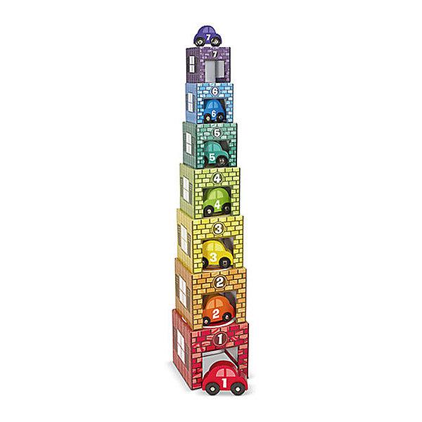 Деревянные гаражи сортировщики, Melissa &amp; DougМозаика<br>Деревянные гаражи сортировщики, Melissa &amp; Doug (Мелисса и Даг).<br><br>Характеристики:<br><br>- В наборе: 7 гаражей разного размера, 7 машинок<br>- Материал: древесина, картон, ПВХ<br>- Размер упаковки: 41х19х15 см.<br><br>Набор «Деревянные гаражи сортировщики» – это развивающая игрушка от американского бренда Melissa &amp; Doug (Мелисса и Даг). Набор состоит из 7 красочных пронумерованных гаражей разного размера и 7 разноцветных деревянных машинок с цифрами на корпусе. Вашему мальчику обязательно понравится расставлять машинки в соответствующие по номеру и размеру гаражи. Гаражи также можно выстроить в высокую пирамидку, поместив, их друг на друга. В процессе игры ребенок улучшит мелкую моторику рук, координацию движений, научиться различать цвета, а также познакомится с цифрами и формами. Набор изготовлен из высококачественных нетоксичных материалов, абсолютно безопасен для детей.<br><br>Набор Деревянные гаражи сортировщики, Melissa &amp; Doug (Мелисса и Даг) можно купить в нашем интернет-магазине.<br><br>Ширина мм: 410<br>Глубина мм: 150<br>Высота мм: 190<br>Вес г: 1361<br>Возраст от месяцев: 24<br>Возраст до месяцев: 2147483647<br>Пол: Унисекс<br>Возраст: Детский<br>SKU: 5074355