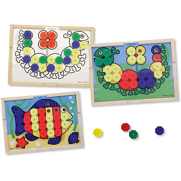 Набор Подбери правильный цвет, Melissa &amp; DougМозаика<br>Набор Подбери правильный цвет, Melissa &amp; Doug (Мелисса и Даг).<br><br>Характеристики:<br><br>- В наборе: деревянная доска-рамка; 10 двухсторонних карточек – на одной стороне цветной рисунок, с другой – черно-белый; 64 разноцветных элемента мозаики<br>- Размер доски: 40х29х6 см.<br>- Материал: древесина, картон<br><br>С красочным развивающим набором Подбери правильный цвет ваш малыш познакомится с основными цветами и научится собирать картинки. На 10 двухсторонних карточках изображены рыбка, гусеничка, черепаха, крокодил, попугай и другие картинки. На одной стороне карточки рисунок цветной, а на другой – черно-белый (для детей постарше). Каждая картинка представляет собой основу для сборки, которая крепится к деревянной доске-рамке. Малышу предстоит правильно подобрать цвет элемента мозаики, чтобы собрать картинку. Элементы мозаики крупные и удобные для детской ладошки. Деревянная доска-рамка имеет достаточно большой размер. Игра с набором Подбери правильный цвет способствует развитию зрительно-моторной связи, фантазии, логическому мышлению, цветовосприятию и отлично поднимает настроение.<br><br>Набор Подбери правильный цвет, Melissa &amp; Doug (Мелисса и Даг) можно купить в нашем интернет-магазине.<br>Ширина мм: 400; Глубина мм: 60; Высота мм: 290; Вес г: 1157; Возраст от месяцев: 36; Возраст до месяцев: 2147483647; Пол: Унисекс; Возраст: Детский; SKU: 5074356;