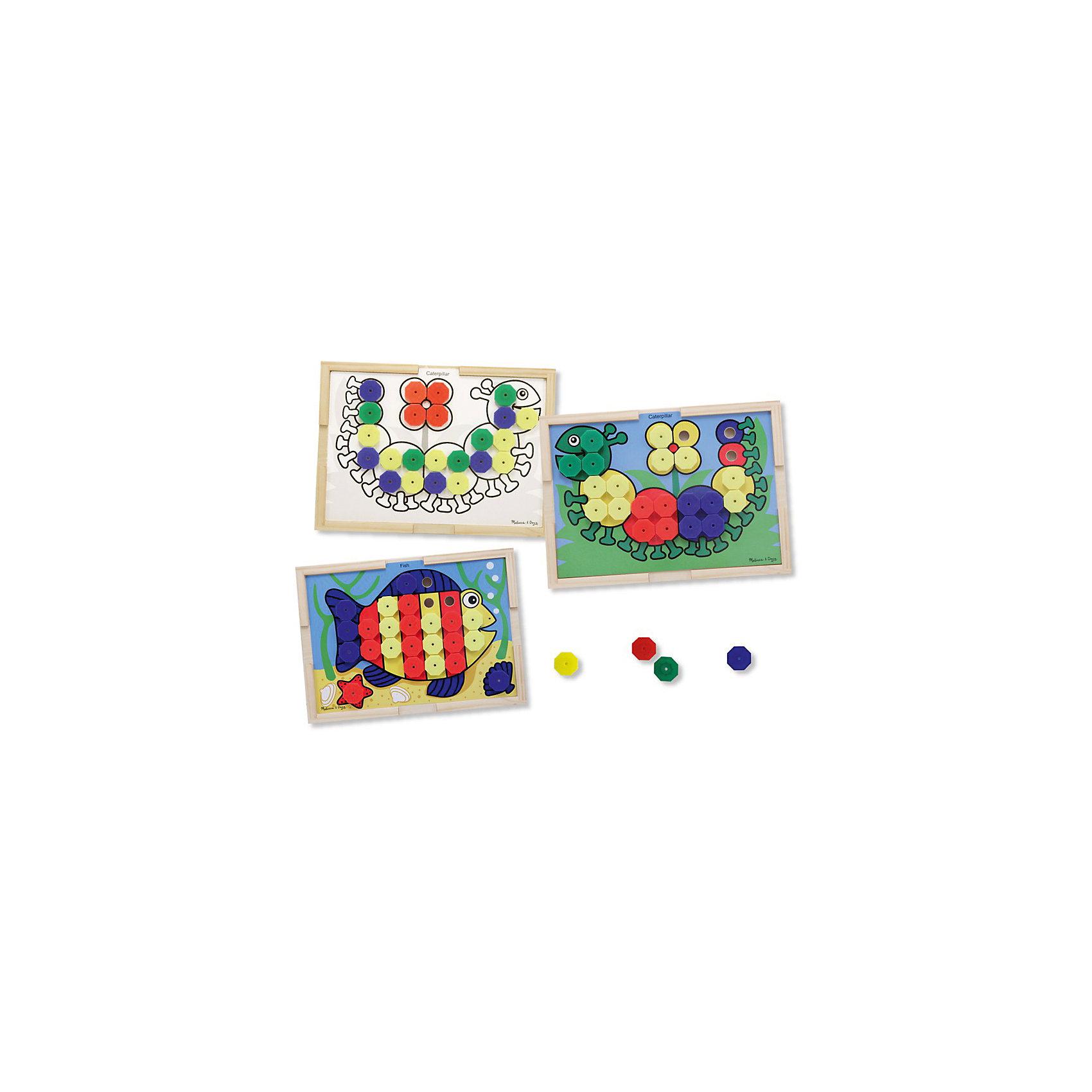 Набор Подбери правильный цвет, Melissa &amp; DougРазвивающие игрушки<br>Набор Подбери правильный цвет, Melissa &amp; Doug (Мелисса и Даг).<br><br>Характеристики:<br><br>- В наборе: деревянная доска-рамка; 10 двухсторонних карточек – на одной стороне цветной рисунок, с другой – черно-белый; 64 разноцветных элемента мозаики<br>- Размер доски: 40х29х6 см.<br>- Материал: древесина, картон<br><br>С красочным развивающим набором Подбери правильный цвет ваш малыш познакомится с основными цветами и научится собирать картинки. На 10 двухсторонних карточках изображены рыбка, гусеничка, черепаха, крокодил, попугай и другие картинки. На одной стороне карточки рисунок цветной, а на другой – черно-белый (для детей постарше). Каждая картинка представляет собой основу для сборки, которая крепится к деревянной доске-рамке. Малышу предстоит правильно подобрать цвет элемента мозаики, чтобы собрать картинку. Элементы мозаики крупные и удобные для детской ладошки. Деревянная доска-рамка имеет достаточно большой размер. Игра с набором Подбери правильный цвет способствует развитию зрительно-моторной связи, фантазии, логическому мышлению, цветовосприятию и отлично поднимает настроение.<br><br>Набор Подбери правильный цвет, Melissa &amp; Doug (Мелисса и Даг) можно купить в нашем интернет-магазине.<br><br>Ширина мм: 400<br>Глубина мм: 60<br>Высота мм: 290<br>Вес г: 1157<br>Возраст от месяцев: 36<br>Возраст до месяцев: 2147483647<br>Пол: Унисекс<br>Возраст: Детский<br>SKU: 5074356