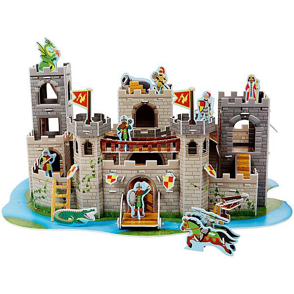3D пазл Рыцарский замок, Melissa &amp; Doug3D пазлы<br>3D пазл Рыцарский замок, Melissa &amp; Doug (Мелисса и Даг).<br><br>Характеристики:<br><br>- В наборе: 100 деталей из пенного материала<br>- Длина собранного замка: 20х43х31 см.<br>- Размер упаковки: 27х43х2 см.<br>- Вес: 450 гр.<br><br>С 3D пазлом Рыцарский замок от торговой марки Melissa&amp;Doug (Мелисса и Даг) ваш ребенок соберет без клея и ножниц детализированный средневековый замок и дополнит его фигурками рыцарей и других персонажей. Для этого необходимо выдавить элементы пазла из специальных заготовок, подобрать их друг к другу, а потом соединить в правильном порядке. В набор входят более 100 деталей из пенного материала повышенной плотности, благодаря чему они не сминаются в руках. Каждая деталь имеет свой номер. Собранный многоуровневый рыцарский замок с башнями, рвом, подъемным мостом, который поднимается и опускается, с потайной дверью, темницей и дверью-ловушкой выглядит очень ярко и реалистично. В комплекте также есть дракон, аллигатор, щиты и мечи, флаги, фигуры королевских рыцарей и короля. Сборка 3D пазла способствует развитию моторики, координации движений, концентрации внимания, воображения и усидчивости.<br><br>3D пазл Рыцарский замок, Melissa &amp; Doug (Мелисса и Даг) можно купить в нашем интернет-магазине.<br><br>Ширина мм: 430<br>Глубина мм: 10<br>Высота мм: 290<br>Вес г: 544<br>Возраст от месяцев: 72<br>Возраст до месяцев: 2147483647<br>Пол: Мужской<br>Возраст: Детский<br>SKU: 5074358