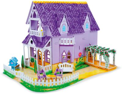3D пазл Пурпурный домик для куклы , Melissa & Doug