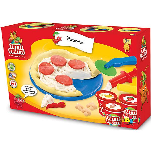 Набор массы для лепки ПиццерияНаборы для лепки<br>Характеристики товара:<br><br>• упаковка: коробка<br>• комплектация: масса для лепки, скалка, специальный пресс, лопатка, ножички и две тарелочки<br>• масса приятно пахнет<br>• цветов: 3<br>• размер упаковки: 24х18 см<br>• возраст: от трех лет<br>• развивающая<br>• страна бренда: Канада<br>• страна производства: Канада<br><br>Лепка - отличный способ занять ребенка. Это не только занимательно, но и очень полезно! С помощью такого набора для творчества ребенок сможет сам сделать пиццу с помощью инструментов, а дальше - делать более сложные предметы. Эта масса для лепки - безопасный материал, который приятно пахнет. В комплекте - масса для лепки, скалка, специальный пресс, лопатка, ножички и две тарелочки.<br>Такое занятие помогает детям развивать многие важные навыки и способности: они тренируют внимание, память, логику, мышление, мелкую моторику, а также усидчивость и аккуратность. Изделие производится из качественных сертифицированных материалов, безопасных даже для самых маленьких.<br><br>Набор массы для лепки Пиццерия Genio Kids можно купить в нашем интернет-магазине.<br>Ширина мм: 185; Глубина мм: 53; Высота мм: 245; Вес г: 400; Возраст от месяцев: 36; Возраст до месяцев: 108; Пол: Унисекс; Возраст: Детский; SKU: 5075314;