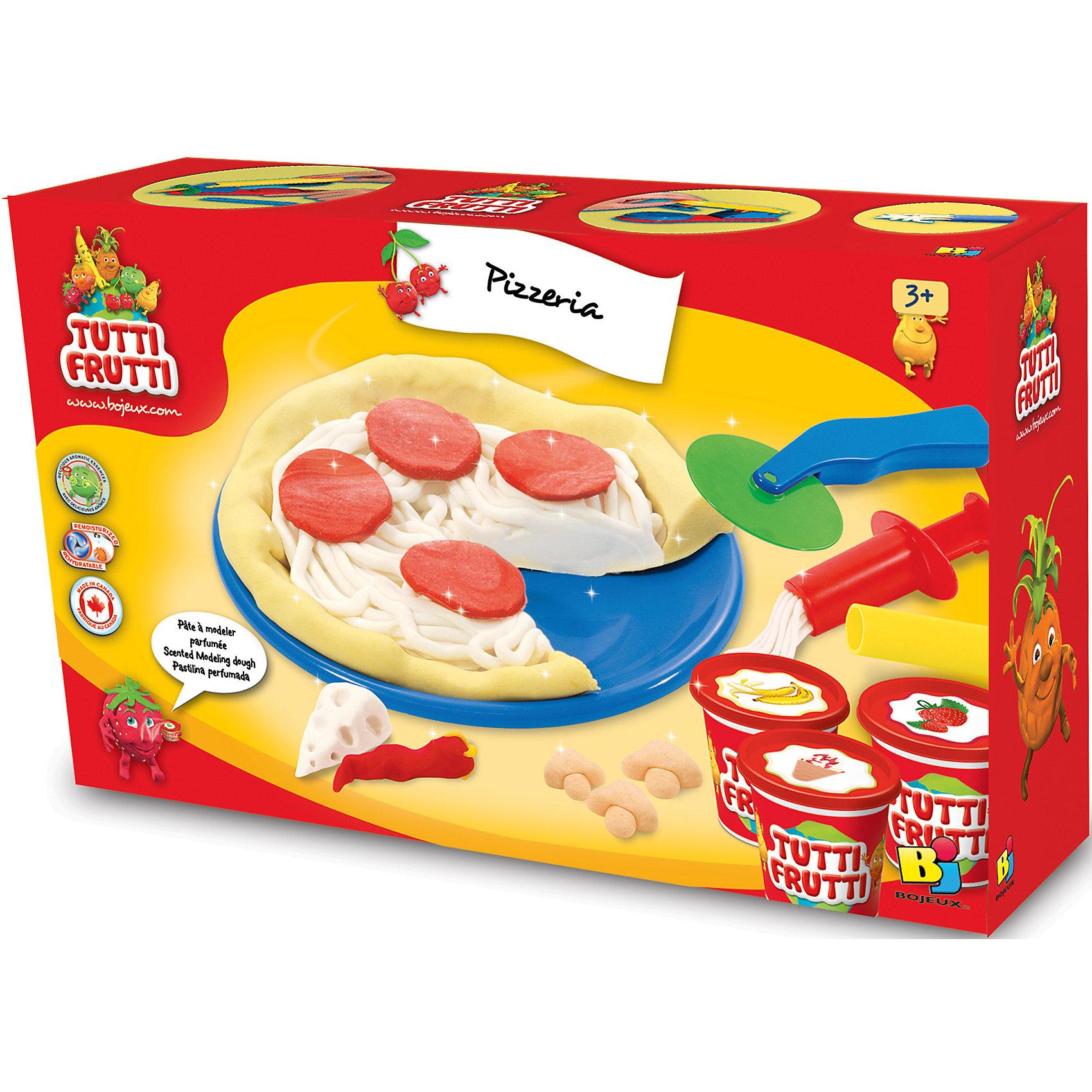 Набор массы для лепки ПиццерияНаборы для лепки<br>Характеристики товара:<br><br>• упаковка: коробка<br>• комплектация: масса для лепки, скалка, специальный пресс, лопатка, ножички и две тарелочки<br>• масса приятно пахнет<br>• цветов: 3<br>• размер упаковки: 24х18 см<br>• возраст: от трех лет<br>• развивающая<br>• страна бренда: Канада<br>• страна производства: Канада<br><br>Лепка - отличный способ занять ребенка. Это не только занимательно, но и очень полезно! С помощью такого набора для творчества ребенок сможет сам сделать пиццу с помощью инструментов, а дальше - делать более сложные предметы. Эта масса для лепки - безопасный материал, который приятно пахнет. В комплекте - масса для лепки, скалка, специальный пресс, лопатка, ножички и две тарелочки.<br>Такое занятие помогает детям развивать многие важные навыки и способности: они тренируют внимание, память, логику, мышление, мелкую моторику, а также усидчивость и аккуратность. Изделие производится из качественных сертифицированных материалов, безопасных даже для самых маленьких.<br><br>Набор массы для лепки Пиццерия Genio Kids можно купить в нашем интернет-магазине.<br><br>Ширина мм: 185<br>Глубина мм: 53<br>Высота мм: 245<br>Вес г: 400<br>Возраст от месяцев: 36<br>Возраст до месяцев: 108<br>Пол: Унисекс<br>Возраст: Детский<br>SKU: 5075314
