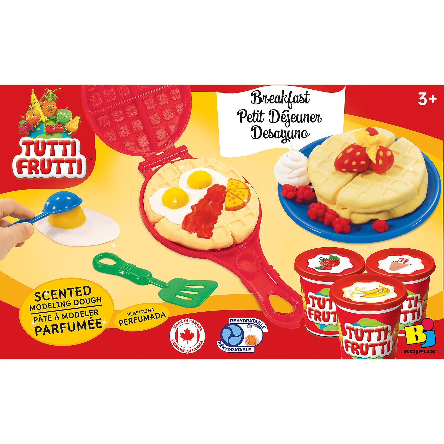 Набор массы для лепки ЗавтракЛепка<br>Характеристики товара:<br><br>• упаковка: коробка<br>• комплектация: масса для лепки, вафельница, лопатка и красочная инструкция<br>• масса приятно пахнет<br>• цветов: 3<br>• размер упаковки: 24х20 см<br>• возраст: от трех лет<br>• развивающая<br>• страна бренда: Канада<br>• страна производства: Канада<br><br>Лепка - отличный способ занять ребенка. Это не только занимательно, но и очень полезно! С помощью такого набора для творчества ребенок сможет сам сделать еду с помощью инструментов, а дальше - делать более сложные предметы. Эта масса для лепки - безопасный материал, который приятно пахнет. В комплекте - масса для лепки, скалка, специальный пресс, лопатка, ножички и две тарелочки.<br>Такое занятие помогает детям развивать многие важные навыки и способности: они тренируют внимание, память, логику, мышление, мелкую моторику, а также усидчивость и аккуратность. Изделие производится из качественных сертифицированных материалов, безопасных даже для самых маленьких.<br><br>Набор массы для лепки Завтрак можно купить в нашем интернет-магазине.<br><br>Ширина мм: 185<br>Глубина мм: 53<br>Высота мм: 245<br>Вес г: 430<br>Возраст от месяцев: 36<br>Возраст до месяцев: 108<br>Пол: Унисекс<br>Возраст: Детский<br>SKU: 5075315