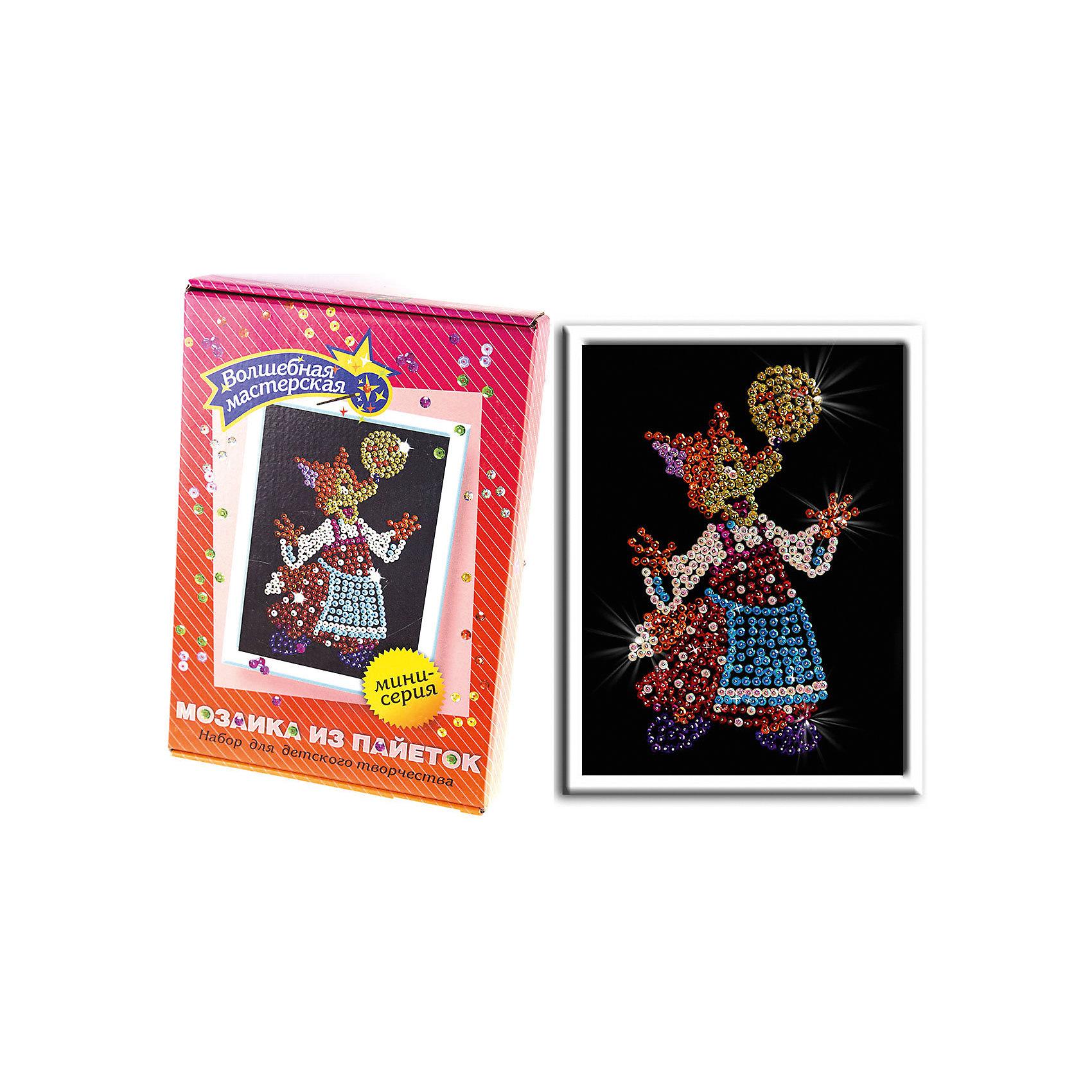 Волшебная мастерская Мозаика из пайеток Лисичка наборы для творчества волшебная мастерская мозаика из пайеток лисичка