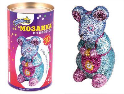 Волшебная мастерская Мозаика из пайеток 3D Мышка