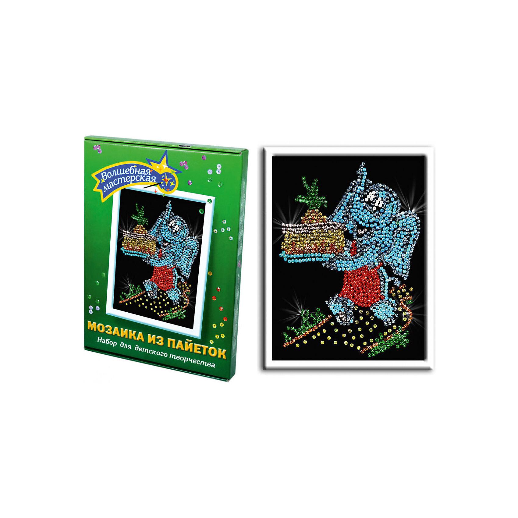 Мозаика из пайеток СлоненокНабор для детского творчества «Мозайка из пайеток» дарит возможность составить рисунок с бабочкой из пайеток. Пайтеки – это блестка, плоская чешуйка из блестящего материала, обычно круглой или многогранной формы и с отверстием для продевания нитки. Пайетка может иметь различную окраску. <br>Набор способствует развитию фантазии ребенка, мелкой моторики рук. Тренирует усидчивость и терпение, так как приходится работать с достаточно мелкими деталями. Подойдет как для домашних занятий творчеством так и для школьных.<br><br>Ширина мм: 375<br>Глубина мм: 34<br>Высота мм: 277<br>Вес г: 364<br>Возраст от месяцев: 36<br>Возраст до месяцев: 108<br>Пол: Унисекс<br>Возраст: Детский<br>SKU: 5075374