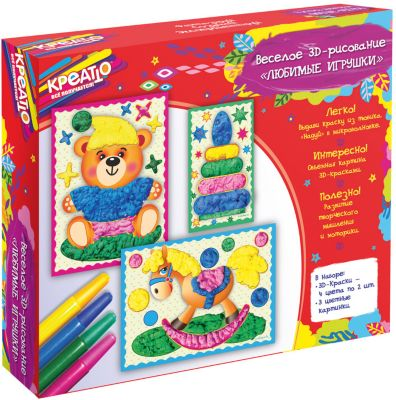 Креатто Веселое рисование Любимые игрушки , КРЕАТТО