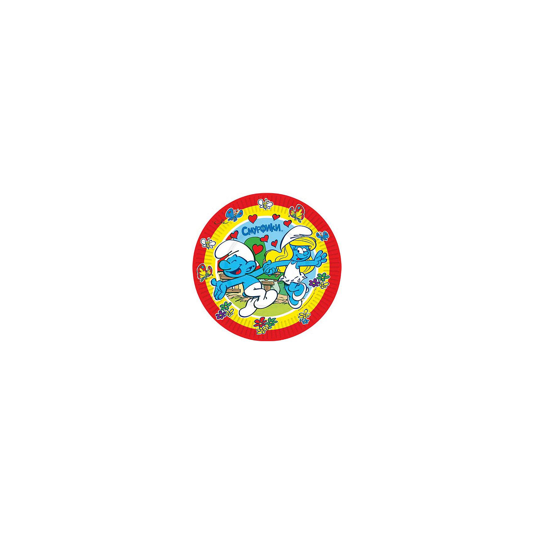 Тарелка Сердечки, 23 см, 10 шт, СмурфикиОдноразовые тарелки прочно вошли в современную жизнь, и теперь многие люди просто не представляют праздник или пикник без таких нужных вещей: они почти невесомы, не могут разбиться и не нуждаются в мытье. Сделанная из бумаги, посуда «Сердечки» ТМ «Смурфики» является экологически чистой, поэтому не наносит вреда здоровью. Благодаря глянцевому ламинированию, она прекрасно справляется со своей задачей: удерживает еду и напитки, не промокает и не протекает.&#13;<br>В набор одноразовой посуды входит 10 бумажных тарелок диаметром 23 см. Также вы можете выбрать бумажные стаканы, дудочки, колпачки и полиэтиленовую скатерть бренда «Смурфики». Упаковка – термопленка.<br><br>Ширина мм: 230<br>Глубина мм: 230<br>Высота мм: 10<br>Вес г: 146<br>Возраст от месяцев: 36<br>Возраст до месяцев: 108<br>Пол: Унисекс<br>Возраст: Детский<br>SKU: 5076628