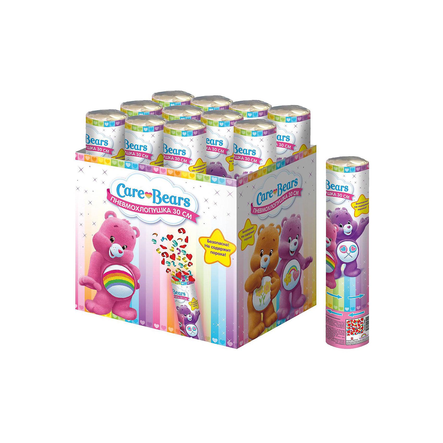 Хлопушка Заботливые мишки 30 смВсё для праздника<br>Подарите ребятишкам радость, дополнив детский праздник хлопушкой «Заботливые мишки». Когда раздастся звонкий хлопок и под веселый ребячий смех на всех посыплется разноцветное конфетти – восторг гостей торжества гарантирован!&#13;<br>Хлопушка высотой 30 см, наполненная разноцветным конфетти из разноцветных сердечек, представляет собой металлическую тубу с бумажным и фольгированным наполнением. Изделие не содержит пороха, действует на основе сжатого воздуха, безопасно при использовании по назначению. Товар сертифицирован.<br><br>Ширина мм: 50<br>Глубина мм: 50<br>Высота мм: 280<br>Вес г: 150<br>Возраст от месяцев: 144<br>Возраст до месяцев: 2147483647<br>Пол: Унисекс<br>Возраст: Детский<br>SKU: 5076637