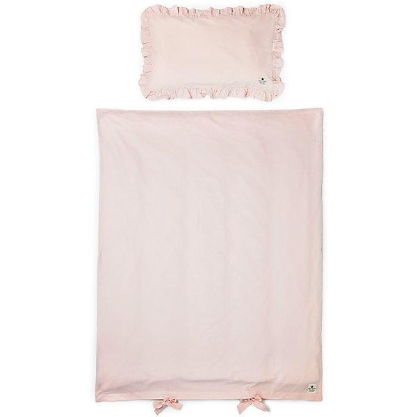 Постельное белье Powder Pink, Elodie Details, розовыйПостельное белье в кроватку новорождённого<br>Постельное белье Powder Pink, Elodie Details, розовый.<br><br>Характеристики:<br><br>• Элементы комплекта изготовлены из очень гладкого и мягкого 100% органического хлопка-перкаль.<br>• Хлопок имеет сертификацию GOTS (выращен без использования вредных химических веществ).<br>• Подходит к большинству стандартных кроваток.<br>• К комплекту постельного белья также можно приобрести одеяло (продается отдельно).<br>• В комплекте: наволочка, пододеяльник<br>Размеры:<br>Пододеяльник, см: 100х130<br>Наволочка, см: 35х55<br><br>Постельное белье Powder Pink, Elodie Details, розовый от известного шведского производителя функциональных и инновационных товаров для детей. Вся продукцию Elodie Details отличает высокое качество, интересный дизайном, смелые новаторские и очень стильные узоры. Такой комплект, нежного розового цвета, сделает спальное место малыша уютным и подарит ему комфортный и здоровый сон.<br><br>Постельное белье Powder Pink, Elodie Details, розовый можно купить в нашем интернет-магазине.<br><br>Ширина мм: 390<br>Глубина мм: 270<br>Высота мм: 20<br>Вес г: 558<br>Возраст от месяцев: 0<br>Возраст до месяцев: 36<br>Пол: Унисекс<br>Возраст: Детский<br>SKU: 5077453