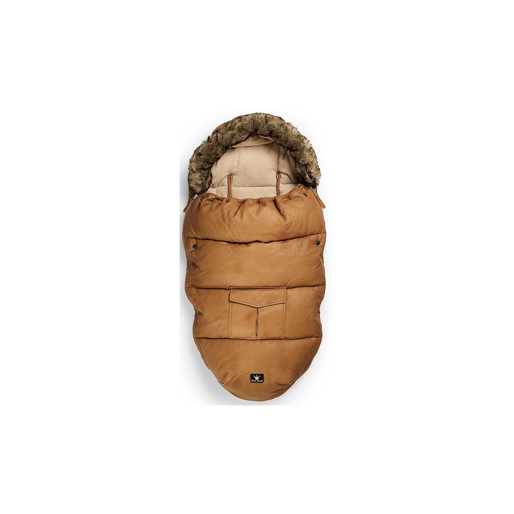 Конверт зимний с опушкой в коляску Chestnut Leather, Elodie DetailsЗимние конверты<br>Конверт зимний с опушкой в коляску Chestnut Leather, Elodie Details<br><br>Характеристики:<br><br>• Сезон: зима для температуры до -25 °C<br>• Цвет: коричневый;<br>• Материал верха: 60% вискоза, 40% полиуретан.<br>• Утеплитель: холлофайбер.<br>• Материал подклада: флис.<br>• Оторочка из искусственного меха Colar.<br>• Тип застежки: молния.<br>• Размер: длина 110см; ширина 53см.<br><br>Конверт зимний с опушкой в коляску Chestnut Leather, Elodie Details –это новинка от шведского бренда Elodie Details. Теплый, легкий и удобный, он обеспечит вашему малышу оптимальный комфорт и тепло. Покрытие конверта изготовлено по новейшей технологии BIONIC-FINISH® ECO, благодаря чему надежно защищено от ветра, влаги и снега. Этот зимний конверт подходит к любому типу колясок. Верхняя часть конверта оторочена   искусственным мехом и  может использоваться, как капюшон. Ножки ребенка  остаются не зафиксированными. В качестве наполнителя в конверте использован холлофайбер — инновационный, экологически чистый и гипоаллергенный материал, который обеспечивает качественное сохранение тепла. В конверте предусмотрены отверстия для 5-точечных ремней безопасности.Конверт зимний с опушкой в коляску Chestnut Leather, Elodie Details не требует специального ухода, его можно стирать в стиральной машине, используя указанный режим.<br>Зимние прогулки в таком конверте могут быть длительными и приятными!<br><br><br>Конверт зимний с опушкой в коляску Chestnut Leather, Elodie Details, можно купить в нашем интернет - магазине.<br><br>Ширина мм: 1100<br>Глубина мм: 530<br>Высота мм: 60<br>Вес г: 900<br>Возраст от месяцев: 0<br>Возраст до месяцев: 24<br>Пол: Унисекс<br>Возраст: Детский<br>SKU: 5077469