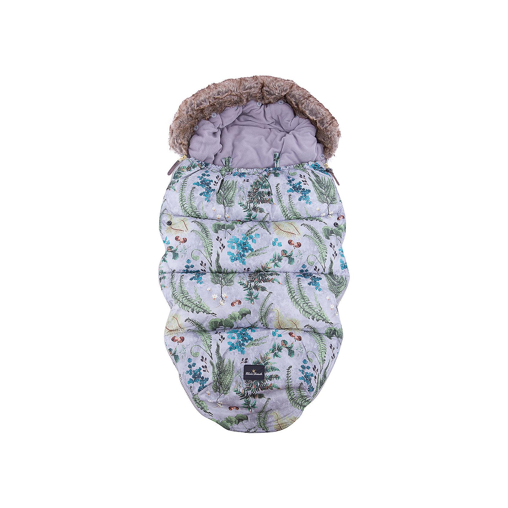 Конверт зимний с опушкой в коляску Forest Flora, Elodie DetailsКонверт зимний с опушкой в коляску Forest Flora, Elodie Details.<br><br>Характеристики:<br><br>• Сезон: зима для температуры до -25 °C<br>• Цвет: серая пастель с флористическим принтом.<br>• Материал верха: 60% вискоза, 40% полиуретан.<br>• Утеплитель: холлофайбер.<br>• Материал подклада: флис.<br>• Оторочка из искусственного меха Colar.<br>• Тип застежки: молния.<br><br>Размер:<br>- длина 110см;<br>- ширина 53см.<br><br>Конверт зимний с опушкой в коляску Forest Flora, Elodie Details–это новинка от шведского бренда Elodie Details. Теплый, легкий и удобный, он обеспечит вашему малышу оптимальный комфорт и тепло. Покрытие конверта изготовлено по новейшей технологии BIONIC-FINISH® ECO, благодаря чему надежно защищено от ветра, влаги и снега. Этот зимний конверт подходит к любому типу колясок. Верхняя часть конверта оторочена  искусственным мехом и может использоваться, как капюшон. Ножки ребенка остаются не зафиксированными. В качестве наполнителя в конверте использован  холлофайбер — инновационный, экологически чистый и гипоаллергенный материал, который обеспечивает качественное сохранение тепла. В конверте предусмотрены отверстия для 5-точечных ремней безопасности. Конверт зимний с опушкой в коляску Forest Flora, Elodie Details не требует специального ухода, его можно стирать в стиральной машине, используя указанный режим.<br>Зимние прогулки в таком конверте могут быть длительными и приятными!<br><br><br>Конверт зимний с опушкой в коляску Forest Flora, Elodie Details, можно купить в нашем интернет - магазине.<br><br>Ширина мм: 1100<br>Глубина мм: 530<br>Высота мм: 60<br>Вес г: 900<br>Возраст от месяцев: 0<br>Возраст до месяцев: 24<br>Пол: Унисекс<br>Возраст: Детский<br>SKU: 5077471