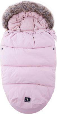 Конверт зимний с опушкой в коляску Powder Pink, Elodie Details