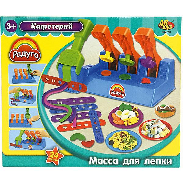 Набор Масса для лепки КафетерийМасса для лепки<br>Масса для лепки Кафетерий (24  предмета), Радуга<br><br>Характеристика:<br><br>-В набор входит 24 предмета:<br>-4 разноцветные баночки с массой для лепки<br>-различные аксессуары<br>-Состав: пластилин, пластмасса <br>-Возраст: от 3 лет<br>-Производитель: MERX Limited<br><br>Масса для лепки Кафетерий поможет вашему ребёнку развить мелкую моторику рук, воображение и фантазию. Благодаря мягкой текстуре, масса будет с легкостью принимать любую форму. В наборе есть все необходимое для лепки разных интересных блюд кафетерия.<br><br>Масса для лепки Кафетерий (24  предмета), Радуга можно приобрести в нашем интернет-магазине.<br>Ширина мм: 280; Глубина мм: 235; Высота мм: 85; Вес г: 813; Возраст от месяцев: 36; Возраст до месяцев: 144; Пол: Унисекс; Возраст: Детский; SKU: 5078256;