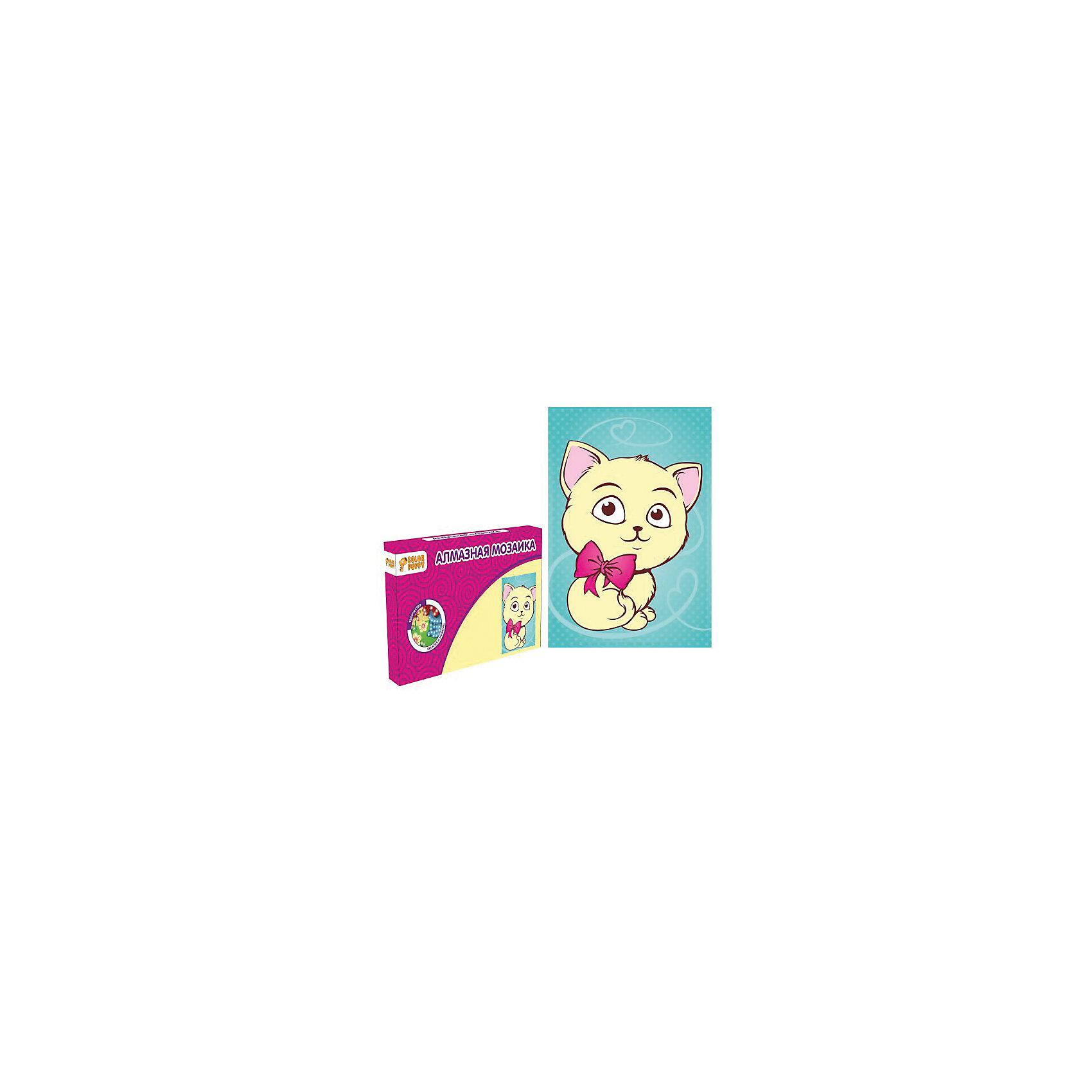 Набор для творчества Алмазная мозаика «Котенок»Мозаика детская<br>В наборе: Картонная основа 10х15 см, подставка, стразы, емкость для страз, карандаш<br><br>Ширина мм: 165<br>Глубина мм: 105<br>Высота мм: 20<br>Вес г: 83<br>Возраст от месяцев: 36<br>Возраст до месяцев: 108<br>Пол: Унисекс<br>Возраст: Детский<br>SKU: 5078346