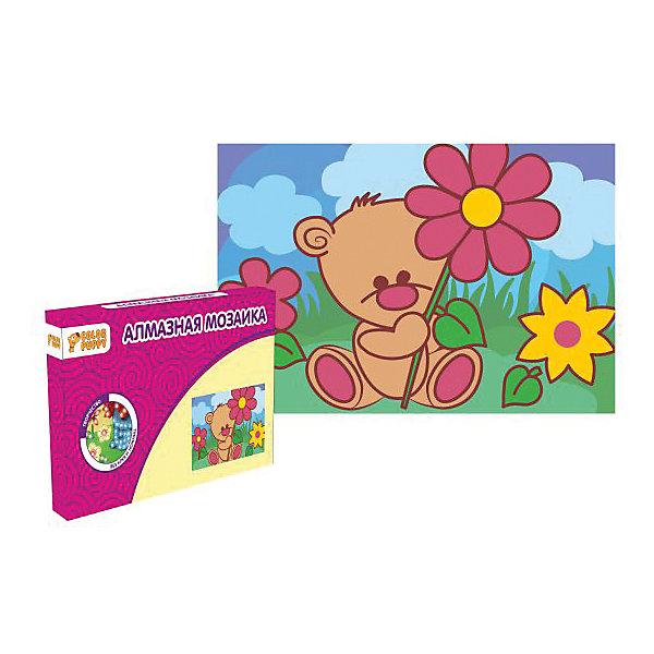 Набор для творчества Алмазная мозаика «Мишка»Мозаика детская<br>Характеристики товара:<br><br>• материал: картон, полимерные материалы<br>• комплектация: картонная основа, подставка, стразы, емкость для страз, карандаш<br>• размер упаковки: 17х11х2 см<br>• упаковка: картонная коробка.<br>• возраст: от 5 лет<br>• для творчества<br>• страна бренда: Китай<br>• страна производства: Тайвань<br><br>Этот набор станет отличным подарком ребенку! Творчество - удачный способ занять детей. Это не только занимательно, но и очень полезно! С помощью набора ребенок сможет сам создать красивую картину - нужно всего лишь следовать инструкции! Это несложно и увлекательно, достаточно нанести небольшие стразы на рисунок - всё необходимое есть в наборе. Готовое изделие может стать подарком от ребенка на праздник для близких и родственников!<br>Такое занятие помогает детям развивать многие важные навыки и способности: они тренируют внимание, память, логику, мышление, мелкую моторику, творческие способности, а также усидчивость и аккуратность. Изделие производится из качественных сертифицированных материалов, безопасных даже для самых маленьких.<br><br>Набор для творчества Алмазная мозаика «Мишка» от бренда Color Puppy можно купить в нашем интернет-магазине.<br>Ширина мм: 165; Глубина мм: 105; Высота мм: 20; Вес г: 84; Возраст от месяцев: 36; Возраст до месяцев: 108; Пол: Женский; Возраст: Детский; SKU: 5078348;