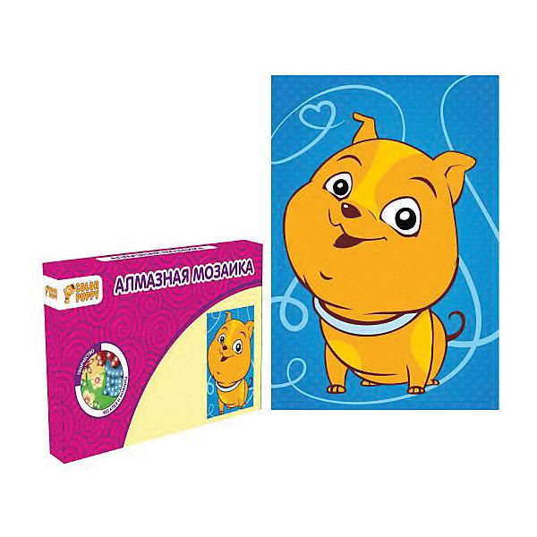 Набор для творчества Алмазная мозаика «Собачка»Мозаика детская<br>Характеристики товара:<br><br>• материал: картон, полимерные материалы<br>• комплектация: картонная основа, подставка, стразы, емкость для страз, карандаш<br>• размер упаковки: 17х11х2 см<br>• упаковка: картонная коробка.<br>• возраст: от 5 лет<br>• для творчества<br>• страна бренда: Китай<br>• страна производства: Тайвань<br><br>Этот набор станет отличным подарком ребенку! Творчество - удачный способ занять детей. Это не только занимательно, но и очень полезно! С помощью набора ребенок сможет сам создать красивую картину - нужно всего лишь следовать инструкции! Это несложно и увлекательно, достаточно нанести небольшие стразы на рисунок - всё необходимое есть в наборе. Готовое изделие может стать подарком от ребенка на праздник для близких и родственников!<br>Такое занятие помогает детям развивать многие важные навыки и способности: они тренируют внимание, память, логику, мышление, мелкую моторику, творческие способности, а также усидчивость и аккуратность. Изделие производится из качественных сертифицированных материалов, безопасных даже для самых маленьких.<br><br>Набор для творчества Алмазная мозаика «Собачка» от бренда Color Puppy можно купить в нашем интернет-магазине.<br><br>Ширина мм: 165<br>Глубина мм: 105<br>Высота мм: 20<br>Вес г: 86<br>Возраст от месяцев: 36<br>Возраст до месяцев: 108<br>Пол: Женский<br>Возраст: Детский<br>SKU: 5078351