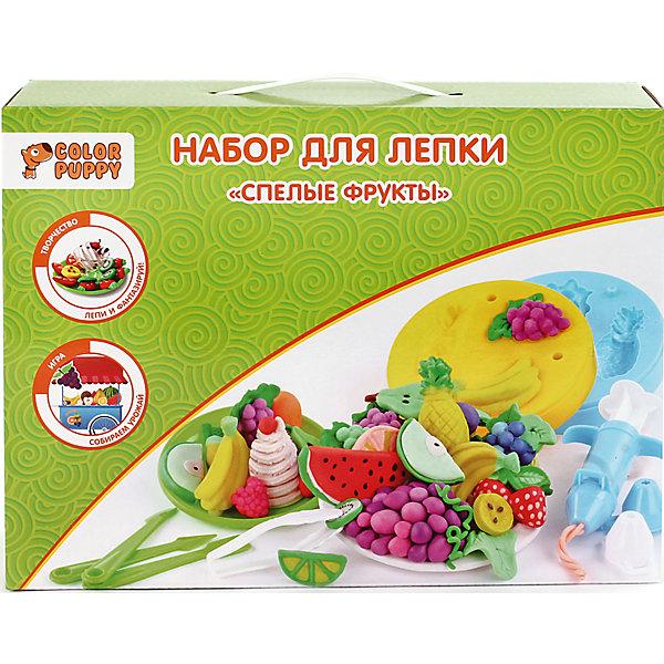 Набор для лепки Спелые фрукты, тесто 240 гНаборы для лепки<br>Набор для лепки Спелые фрукты. Выбери цвет теста и выложи в формы. Если хочешь получить объемные фигуры, то совмести две одинаковые формы. Получатся спелые фрукты и ягоды! Тесто для лепки имеет в составе пищевые ингредиенты: муку, соль, воду, пищевые красители. Безопасное для детей. Не прилипает к рукам, одежде, поверхностям. Очень мягкое и пластичное. Без ароматизаторов. Подходит для начинающих маленьких скульпторов. Занятие лепкой способствует воспитанию усидчивости, развивает пространственное мышление, фантазию и мелкую моторику рук.<br>Ширина мм: 310; Глубина мм: 230; Высота мм: 80; Вес г: 727; Возраст от месяцев: 36; Возраст до месяцев: 108; Пол: Унисекс; Возраст: Детский; SKU: 5078385;