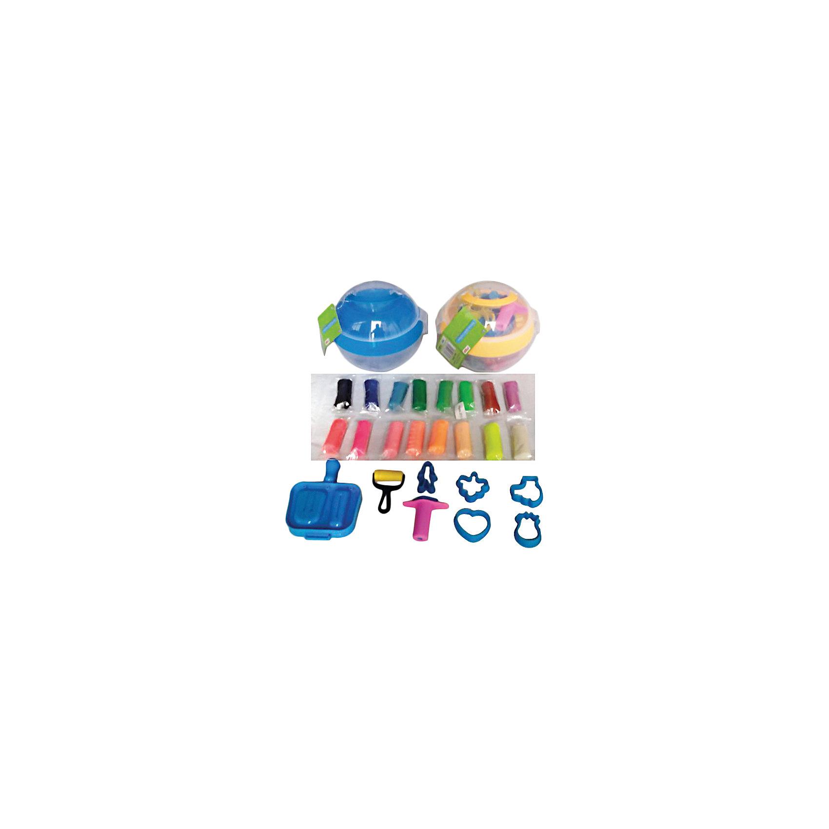 Color Puppy Тесто для лепки: 16 цветов, 272 г, формочки всё для лепки lori пластилин классика 16 цветов