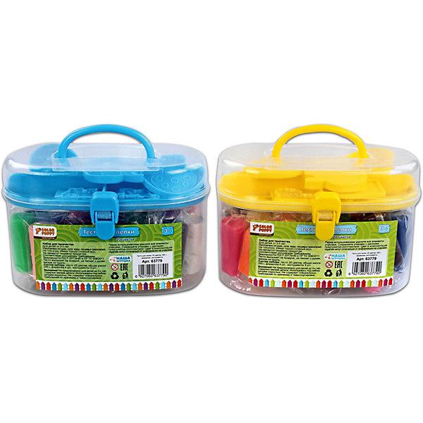 Тесто для лепки: 20 цветов, 290г,  формочки, инструментыТесто для лепки<br>Тесто для лепки имеет в составе пищевые ингредиенты: муку, соль, воду, пищевые красители. Безопасное для детей. Не прилипает к рукам, одежде, поверхностям. Очень мягкое и пластичное. Без ароматизаторов. Подходит для начинающих маленьких скульпторов. Занятие лепкой способствует воспитанию усидчивости, развивает пространственное мышление, фантазию и мелкую моторику рук. Известно, что дети с недостаточно развитой моторикой испытывают трудности в обучении: быстрее устает рука, не получается правильное написание букв. Занятия лепкой помогут избежать подобных проблем.<br>Ширина мм: 140; Глубина мм: 100; Высота мм: 70; Вес г: 442; Возраст от месяцев: 36; Возраст до месяцев: 108; Пол: Унисекс; Возраст: Детский; SKU: 5078398;