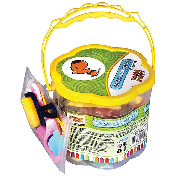 Тесто для лепки: 20 цветов, 560г, формочки, инструментыТесто для лепки<br>Тесто для лепки имеет в составе пищевые ингредиенты: муку, соль, воду, пищевые красители. Безопасное для детей. Не прилипает к рукам, одежде, поверхностям. Очень мягкое и пластичное. Без ароматизаторов. Подходит для начинающих маленьких скульпторов. Занятие лепкой способствует воспитанию усидчивости, развивает пространственное мышление, фантазию и мелкую моторику рук. Известно, что дети с недостаточно развитой моторикой испытывают трудности в обучении: быстрее устает рука, не получается правильное написание букв. Занятия лепкой помогут избежать подобных проблем.<br>Ширина мм: 130; Глубина мм: 110; Высота мм: 130; Вес г: 744; Возраст от месяцев: 36; Возраст до месяцев: 108; Пол: Унисекс; Возраст: Детский; SKU: 5078399;