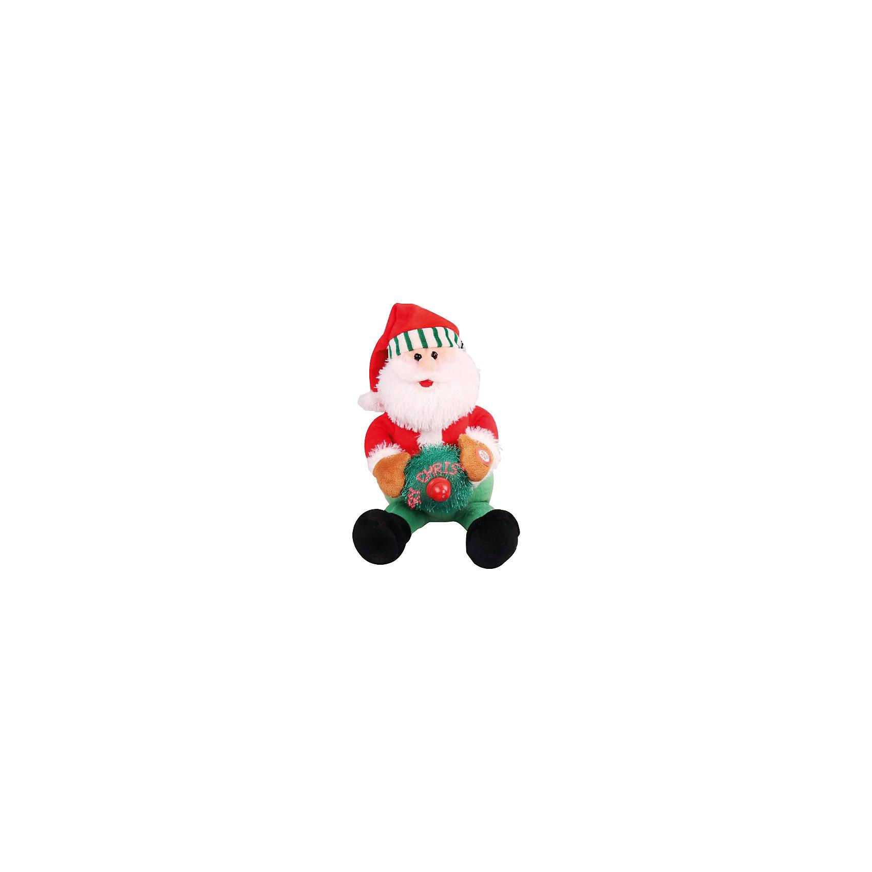 Дед Мороз (механический)Какой же очаровательный Дед Мороз! Эта игрушка - приятный подарок детям и взрослым. Дед Мороз поет рождественскую песенку. В руках у него есть мягкая подушечка с вентилятором. Когда он крутится, на нем появляется надпись « Merry Christmas », что означает «Веселого Рождества».<br><br>Ширина мм: 140<br>Глубина мм: 280<br>Высота мм: 170<br>Вес г: 525<br>Возраст от месяцев: 36<br>Возраст до месяцев: 420<br>Пол: Унисекс<br>Возраст: Детский<br>SKU: 5078404