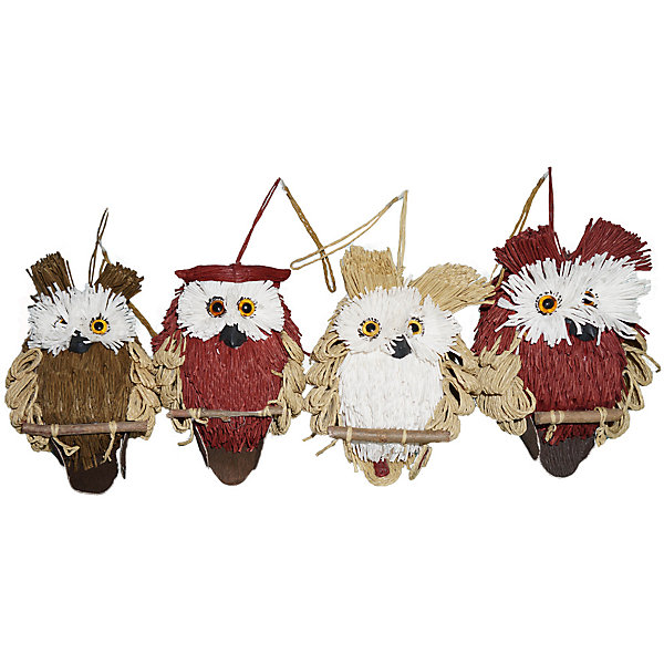 Купить Украшение для декора Сова 15 см, в ассортименте, Новогодняя сказка, Китай, Унисекс
