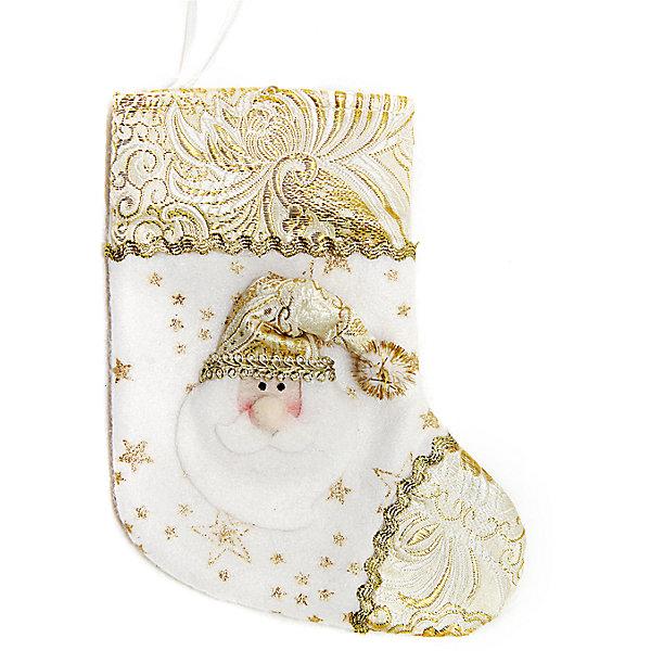 Подарочный носок 18 см, золотоНовогодние носки<br>Подарочный носок золотого цвета украсит ваш интерьер и придаст ему новогоднее настроение.Размер носка 18 см.<br><br>Ширина мм: 135<br>Глубина мм: 180<br>Высота мм: 20<br>Вес г: 12<br>Возраст от месяцев: 36<br>Возраст до месяцев: 420<br>Пол: Унисекс<br>Возраст: Детский<br>SKU: 5078429