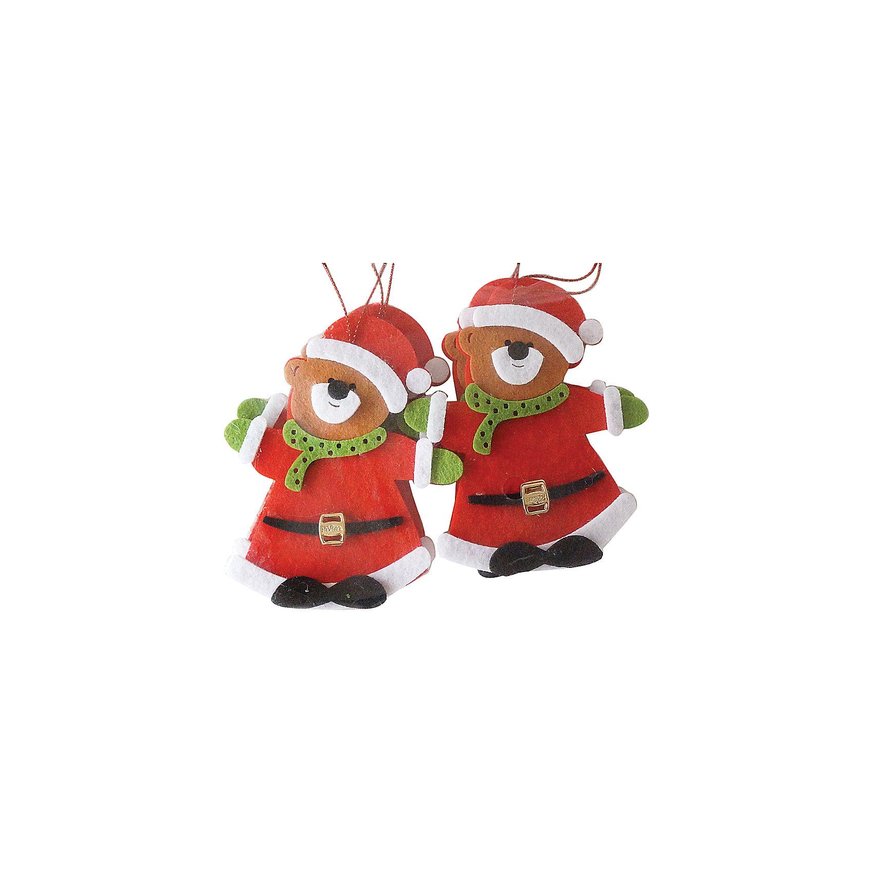 Набор подвесок Мишка 10 см, красныеВсё для праздника<br>Набор подвесок  красного цвета Мишки  украсит ваш интерьер и придаст ему новогоднее настроение.Размер подвески 10 см.<br><br>Ширина мм: 155<br>Глубина мм: 170<br>Высота мм: 10<br>Вес г: 20<br>Возраст от месяцев: 36<br>Возраст до месяцев: 420<br>Пол: Унисекс<br>Возраст: Детский<br>SKU: 5078440