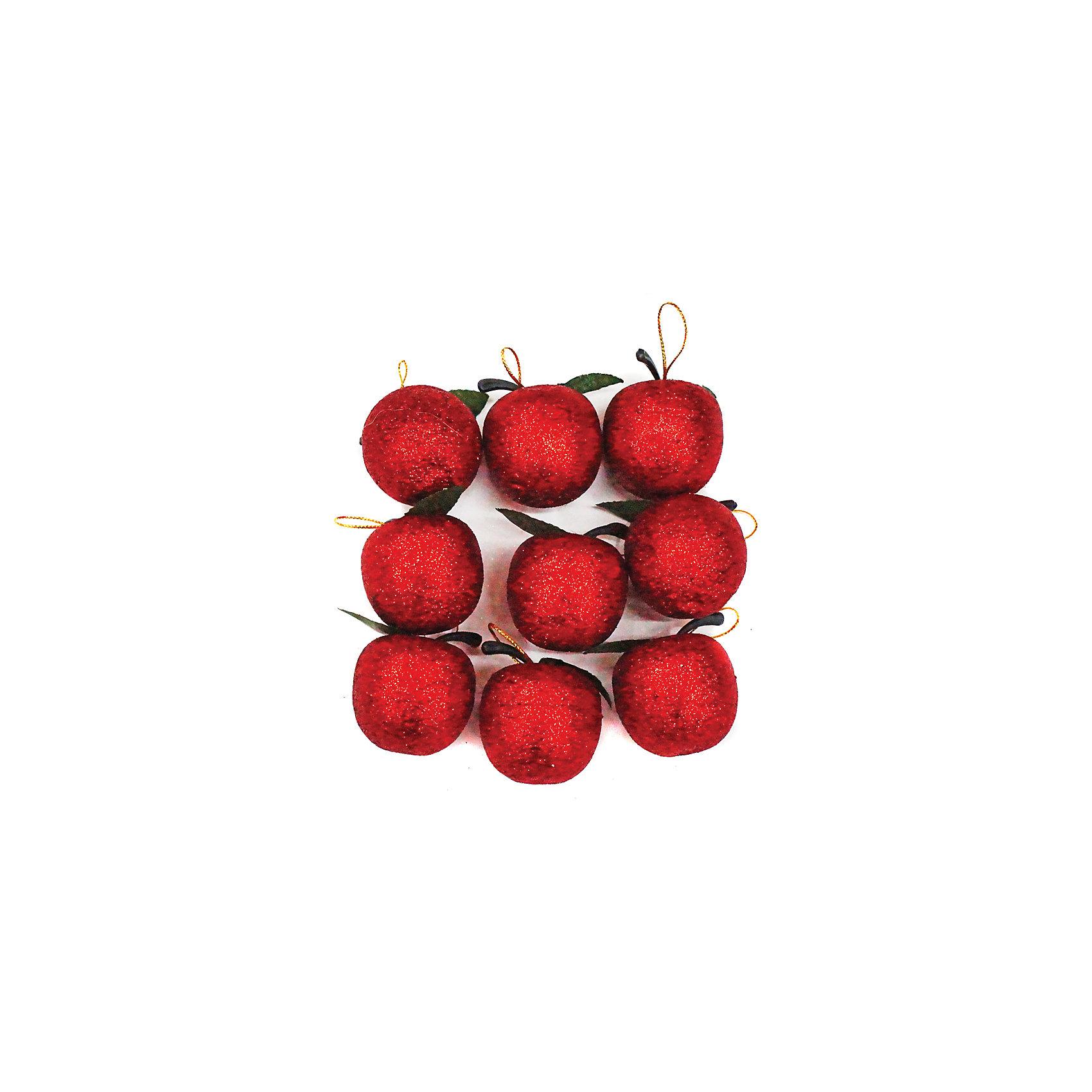 Набор подвесок Яблоко 3,5 см, 9 шт, красныеВсё для праздника<br>Набор подвесок красного цвета Яблоко украсит ваш интерьер и придаст ему новогоднее настроение.Размер подвески 3,5 см. В наборе9 шт<br><br>Ширина мм: 125<br>Глубина мм: 160<br>Высота мм: 35<br>Вес г: 24<br>Возраст от месяцев: 36<br>Возраст до месяцев: 420<br>Пол: Унисекс<br>Возраст: Детский<br>SKU: 5078442