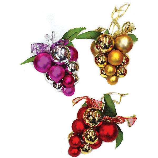 Подвеска Виноград 15 см, в ассорт.Ёлочные игрушки<br>Подвеска Виноград    украсит ваш интерьер и придаст ему новогоднее настроение.Размер подвески 15 см.В ассортименте<br><br>Ширина мм: 120<br>Глубина мм: 160<br>Высота мм: 120<br>Вес г: 65<br>Возраст от месяцев: 36<br>Возраст до месяцев: 420<br>Пол: Унисекс<br>Возраст: Детский<br>SKU: 5078458