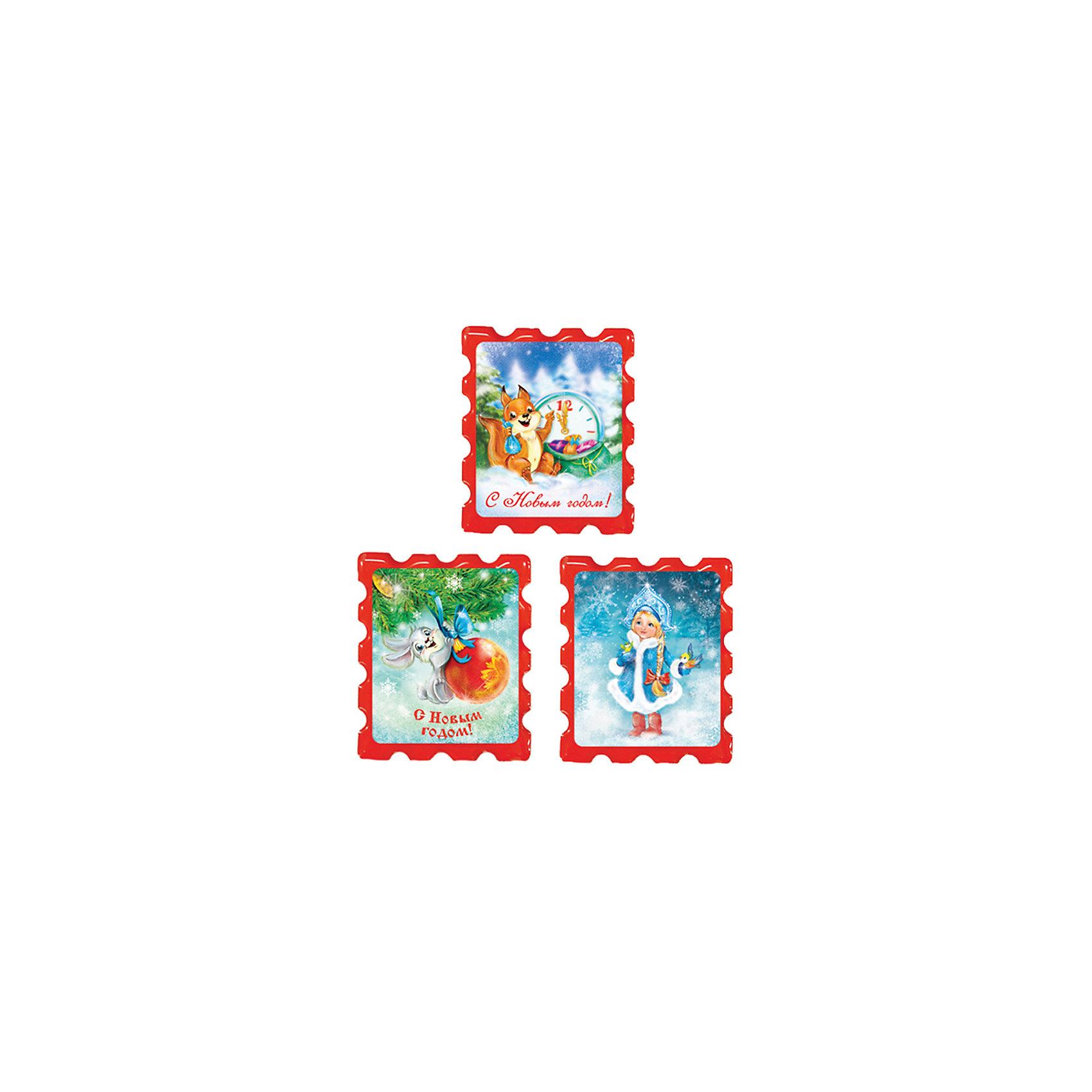 Новогодняя сказка Сувенир магнит С Новым годом! 5х6 см, в ассортименте магнит с новым годом 6 5см в блистере 31502