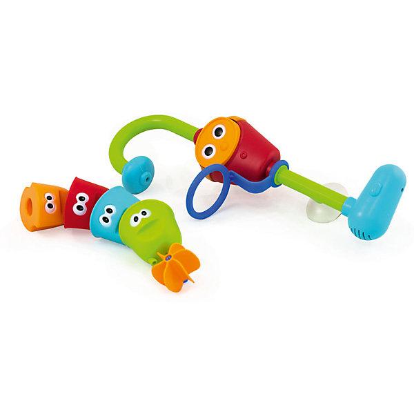 Игрушка для ванны Волшебный кран, PicnMixИгрушки для ванной<br>Игрушка для ванны Волшебный кран, PicnMix<br><br>Характеристики:<br><br>- в набор входит: насос, 4 формочки<br>- элементы питания: батарейки АА, 3 шт. (в комплекте отсутствуют)<br>- состав: пластик<br><br>Эта увлекательная игрушка от известного бренда детских игрушек PicnMix (ПикнМикс) приведет ребенка в восторг и он захочет купаться с ней снова и снова. Не сложная, но захватывающая, она привлечет внимание своей интересной структурой  и дизайном. Насос помещается в ванную, надежно прикрепляясь к стенке с помощью присоски, а из лейки начитает литься вода. Разноцветные формочки с  симпатичными глазками имеют отверстия на донышках, из которых водичка выливается по-разному. Последняя формочка имеет донышко в виде водяной мельницы и когда в нее попадает вода, то колесо начинает двигаться. Игрушка изготовлена из высококачественного пластика и безопасна для детей. Игрушка поможет развить внимательность, логическое мышление, моторику, выучить цвета и прекрасно провести время во время купания.<br><br>Игрушку для ванны Волшебный кран, PicnMix (ПикнМикс) можно купить в нашем интернет-магазине.<br><br>Ширина мм: 190<br>Глубина мм: 90<br>Высота мм: 390<br>Вес г: 550<br>Возраст от месяцев: 9<br>Возраст до месяцев: 60<br>Пол: Унисекс<br>Возраст: Детский<br>SKU: 5078478