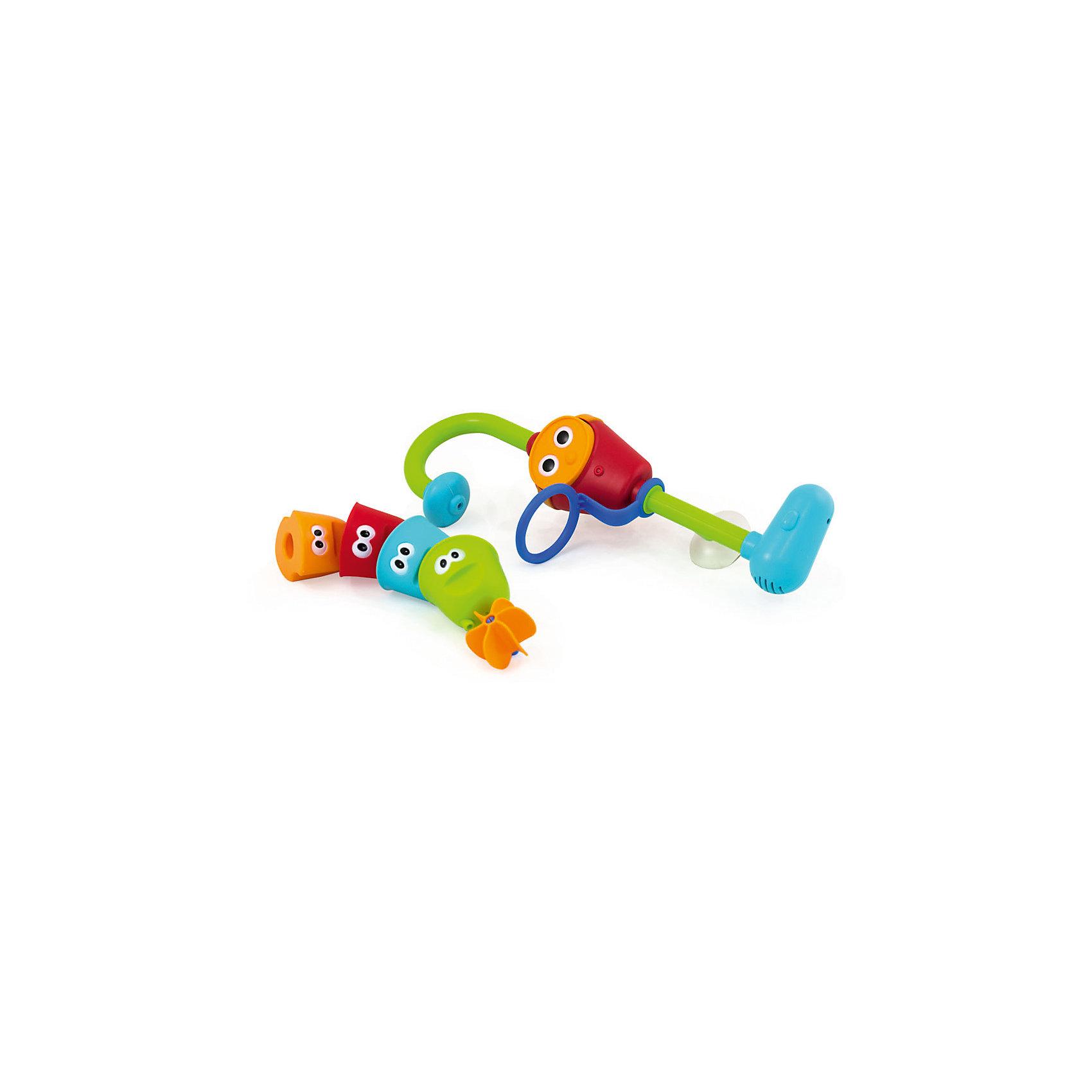 Игрушка для ванны Волшебный кран, PicnMixИгрушка для ванны Волшебный кран, PicnMix<br><br>Характеристики:<br><br>- в набор входит: насос, 4 формочки<br>- элементы питания: батарейки АА, 3 шт. (в комплекте отсутствуют)<br>- состав: пластик<br><br>Эта увлекательная игрушка от известного бренда детских игрушек PicnMix (ПикнМикс) приведет ребенка в восторг и он захочет купаться с ней снова и снова. Не сложная, но захватывающая, она привлечет внимание своей интересной структурой  и дизайном. Насос помещается в ванную, надежно прикрепляясь к стенке с помощью присоски, а из лейки начитает литься вода. Разноцветные формочки с  симпатичными глазками имеют отверстия на донышках, из которых водичка выливается по-разному. Последняя формочка имеет донышко в виде водяной мельницы и когда в нее попадает вода, то колесо начинает двигаться. Игрушка изготовлена из высококачественного пластика и безопасна для детей. Игрушка поможет развить внимательность, логическое мышление, моторику, выучить цвета и прекрасно провести время во время купания.<br><br>Игрушку для ванны Волшебный кран, PicnMix (ПикнМикс) можно купить в нашем интернет-магазине.<br><br>Ширина мм: 190<br>Глубина мм: 90<br>Высота мм: 390<br>Вес г: 550<br>Возраст от месяцев: 9<br>Возраст до месяцев: 60<br>Пол: Унисекс<br>Возраст: Детский<br>SKU: 5078478