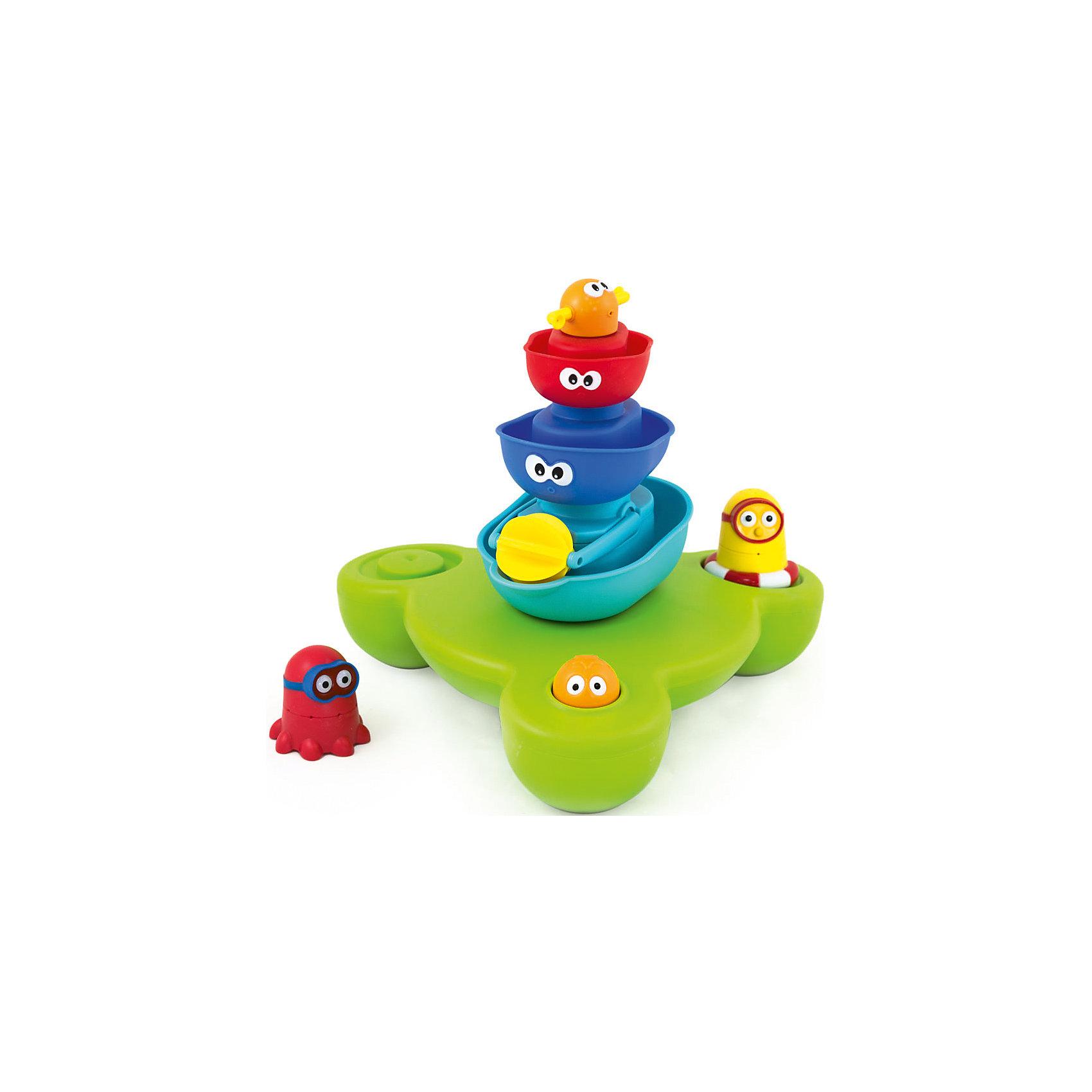 Игрушка для ванны Пирамидка Фонтан, PicnMixИгрушки для ванной<br>Игрушка для ванны Пирамидка Фонтан, PicnMix<br><br>Характеристики:<br><br>- в набор входит: насос-подставка, 3 яруса, 2 фигурки<br>- элементы питания: батарейки АА, 3 шт. (в комплекте отсутствуют)<br>- состав: пластик<br>- размер: 27 * 11 * 40 см.<br><br>Эта увлекательная игрушка от известного бренда детских игрушек PicnMix (ПикнМикс) приведет ребенка в восторг и он захочет купаться с ней снова и снова. Не сложная, но захватывающая, она привлечет внимание своей интересной структурой  и дизайном. Насос-подставка фонтана помещается в ванную и держится на воде плавая. Разноцветные ярусы фонтана снимаются и превращаются в небольшие лодочки симпатичными глазками и имеют отверстия, из которых водичка выливается по-разному. Сама большая лодочка имеет регулируемую водяную мельницу и когда на нее попадает вода, то колесо начинает двигаться. Лодочки можно помещать в любом порядке. Интересные фигурки можно закреплять на лодочках и они будут весело плавать вместе на поверхности воды. На голове фигурок имеются отверстия и когда фигурки закреплены на фонтане, то из них тоже льется вода. Игрушка изготовлена из высококачественного пластика и безопасна для детей. Игрушка поможет развить внимательность, логическое мышление, моторику, выучить цвета и прекрасно провести время во время купания.<br><br>Игрушку для ванны Пирамидка Фонтан, PicnMix (ПикнМикс) можно купить в нашем интернет-магазине.<br><br>Ширина мм: 405<br>Глубина мм: 110<br>Высота мм: 280<br>Вес г: 1130<br>Возраст от месяцев: 12<br>Возраст до месяцев: 60<br>Пол: Унисекс<br>Возраст: Детский<br>SKU: 5078479